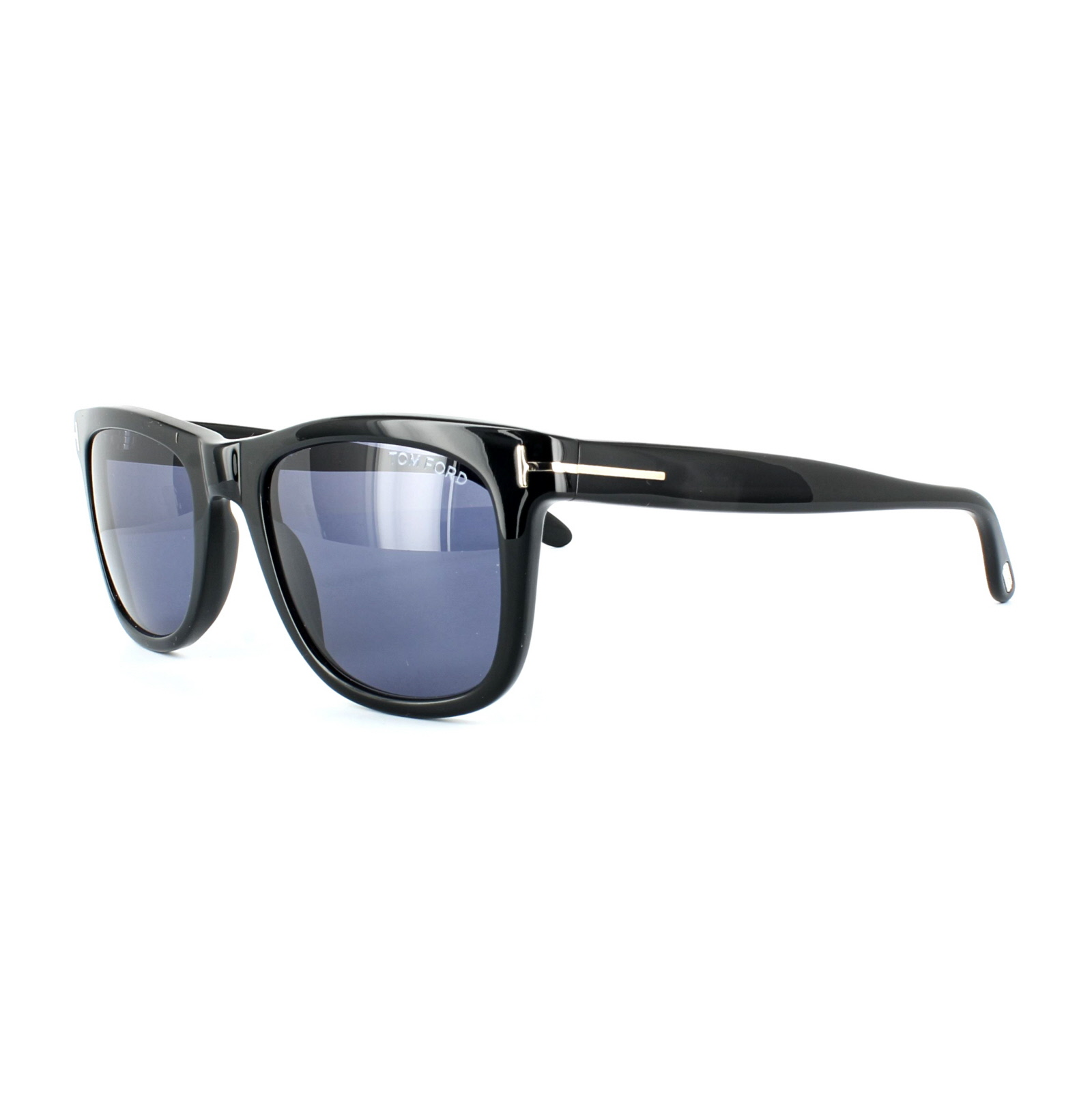7018d82b707ee Tom Ford Sunglasses 0336 Leo 01V Shiny Black Blue 664689602902