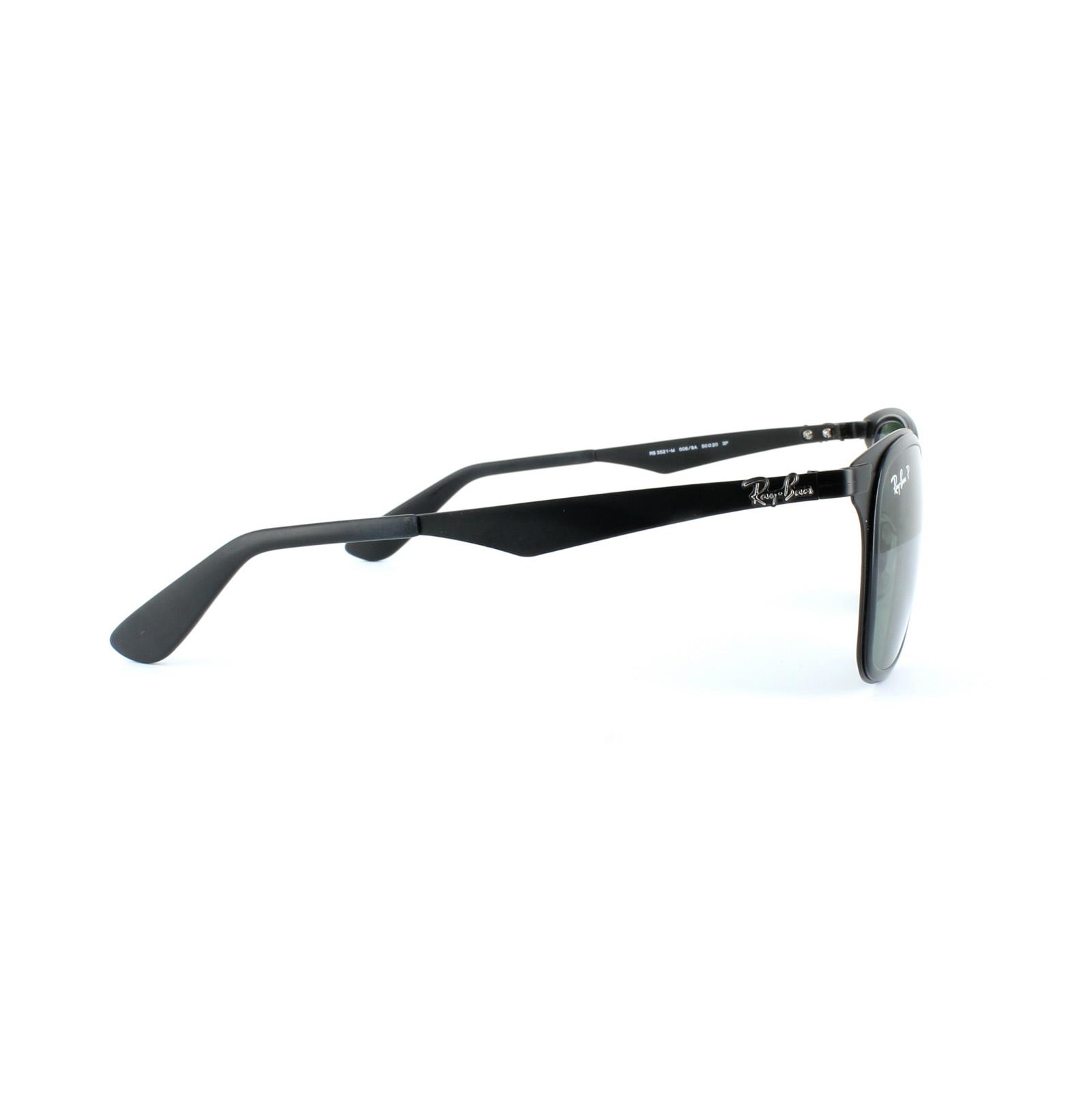 29b8799a90f87 ... discount sentinel ray ban sunglasses wayfarer flat metal 3521 006 9a  black green polarized 8b836 1def2