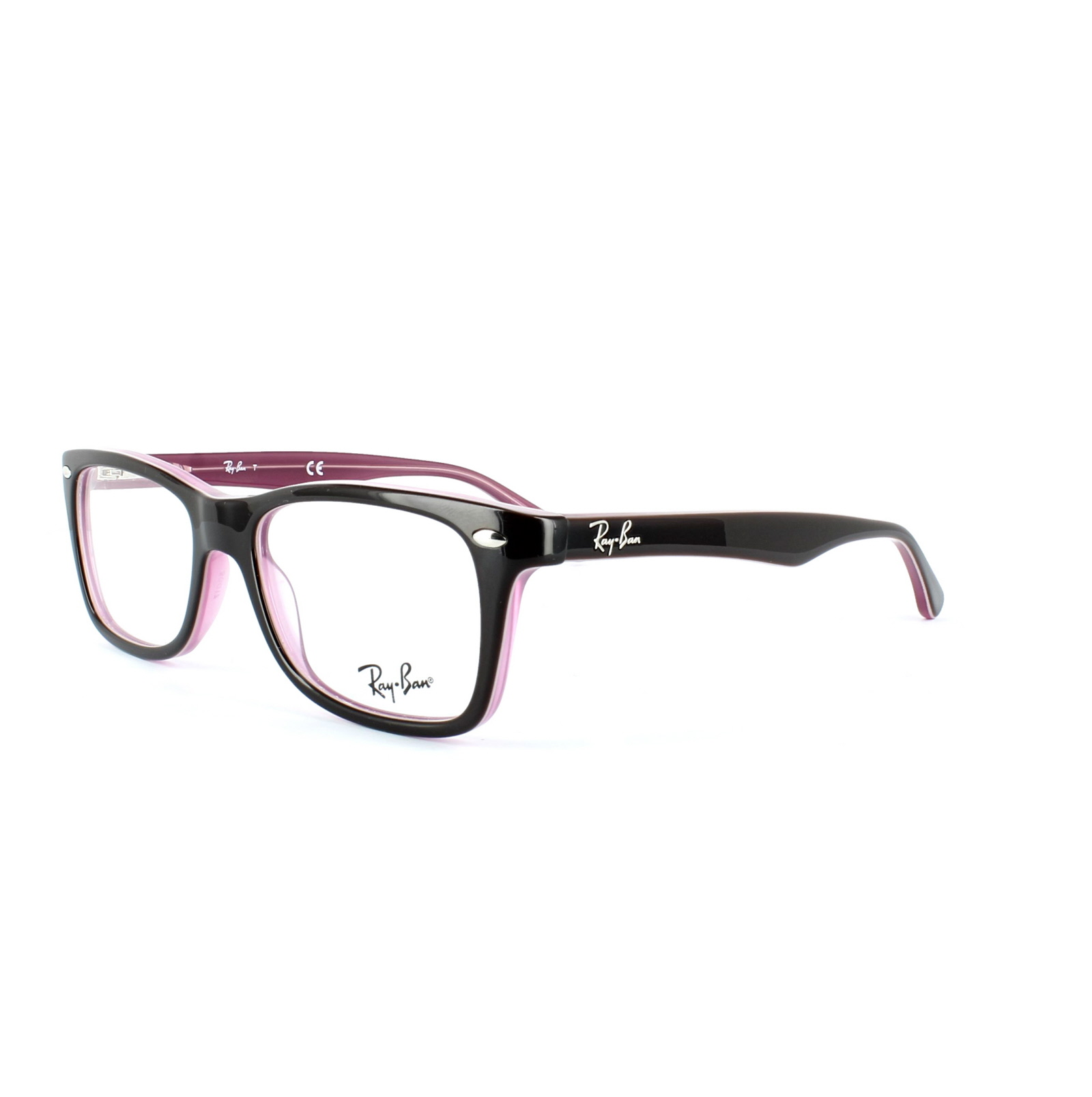 Sentinel Ray-Ban Glasses Frames 5228 2126 Top Brown on Opal Pink Clear 50mm