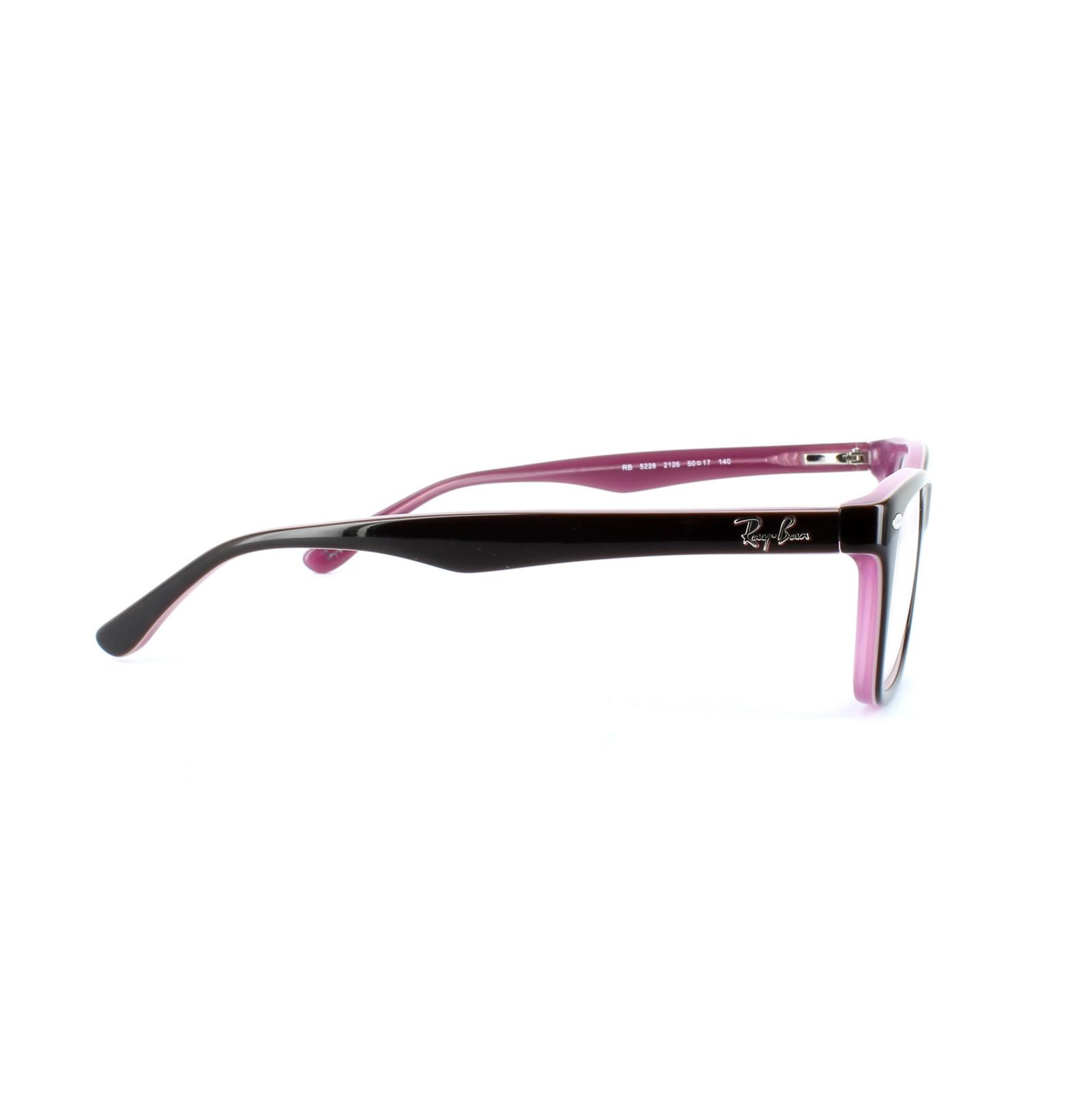 8f19da628b Sentinel Ray-Ban Glasses Frames 5228 2126 Top Brown on Opal Pink Clear 50mm