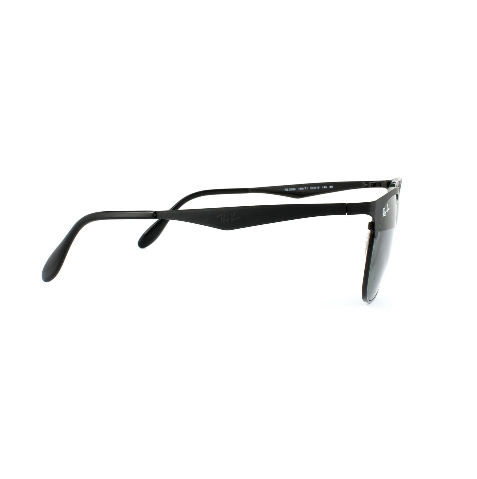 Sentinel Ray-Ban Sunglasses 3538 186 71 Black Green 38be4a8e56