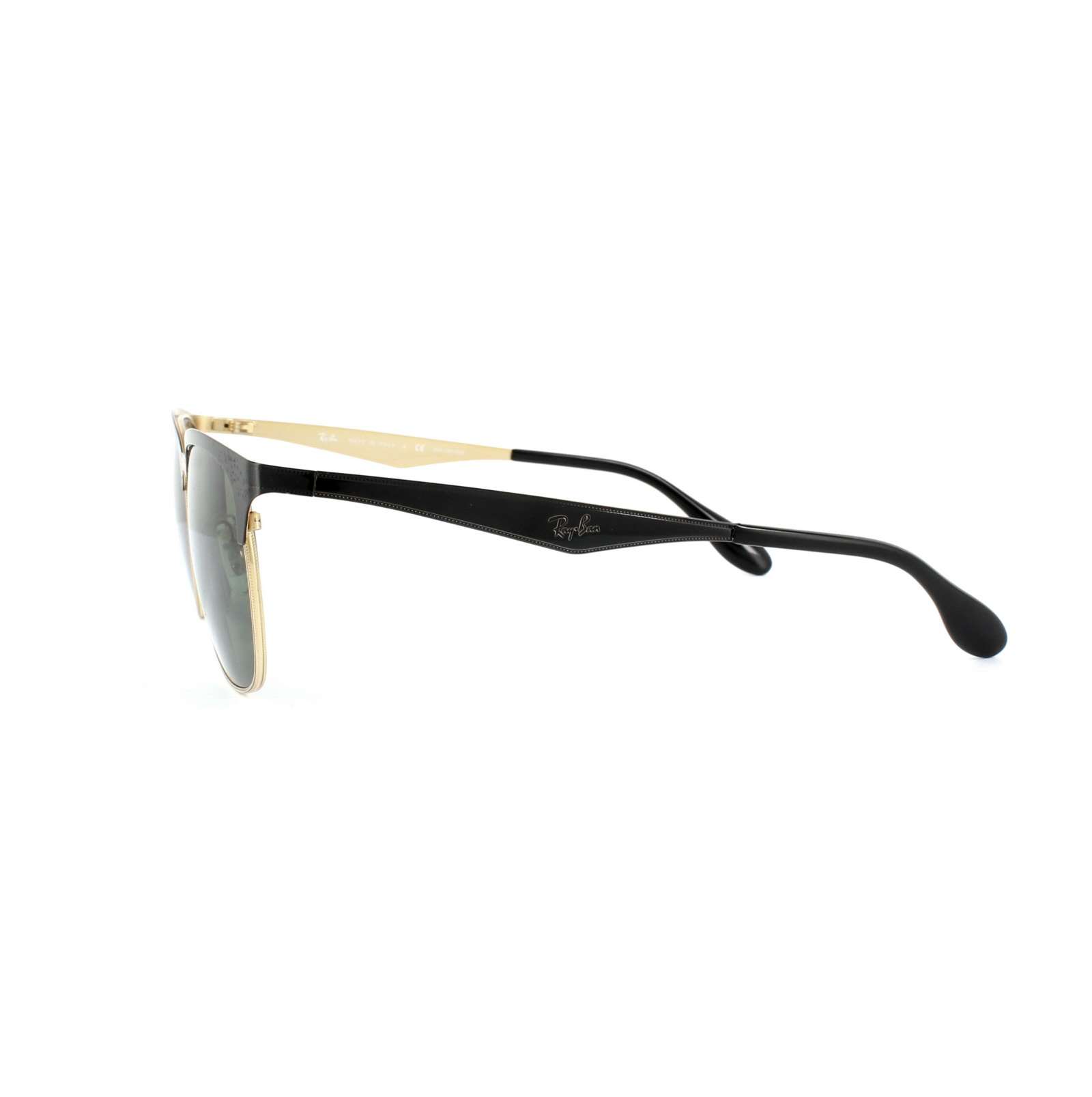 815907aa6d Sentinel Ray-Ban Sunglasses 3538 187 9A Black   Gold Green Polarized