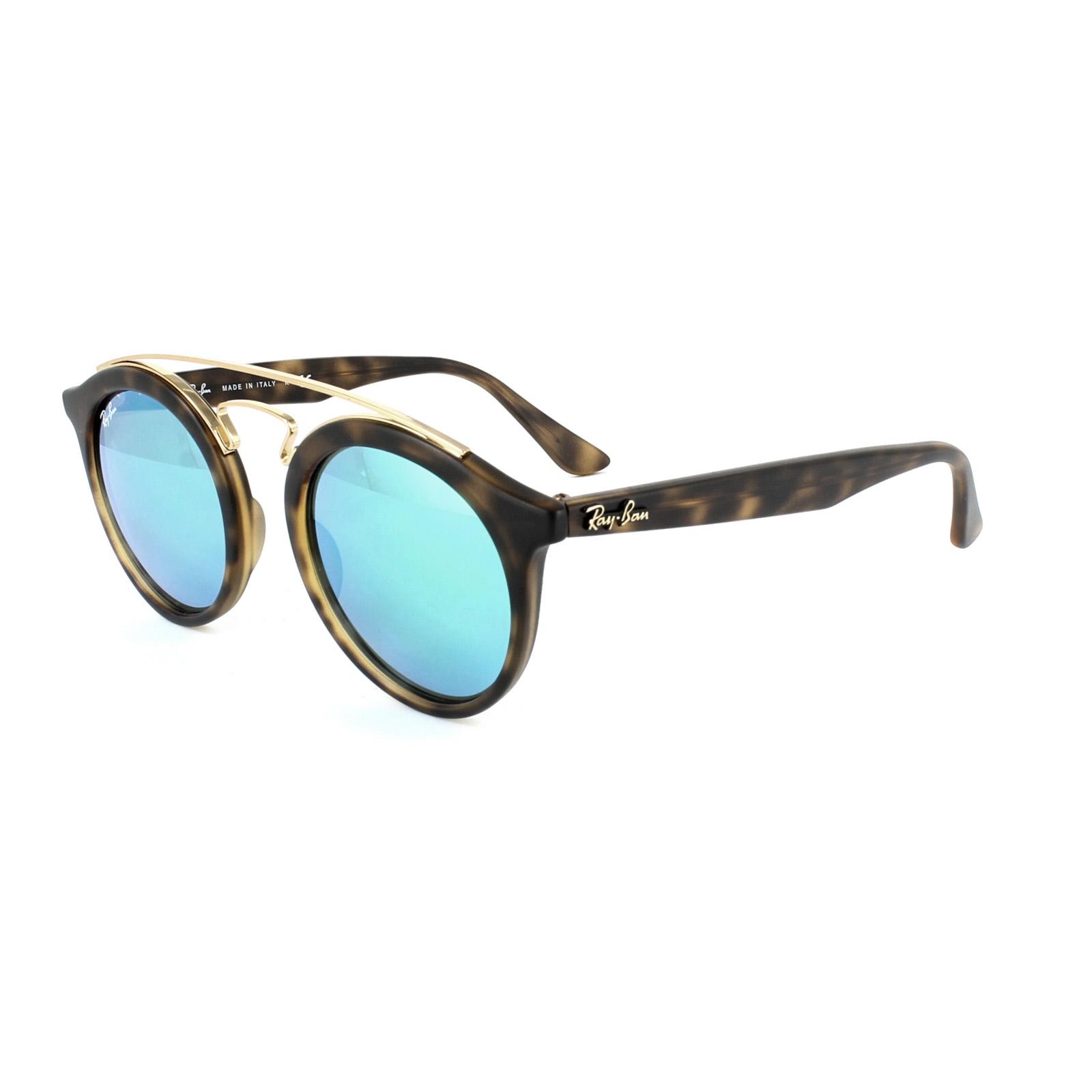 Sentinel Ray-Ban Sunglasses Gatsby 4256 60923R Matt Havana Green Mirror b70d19749a75