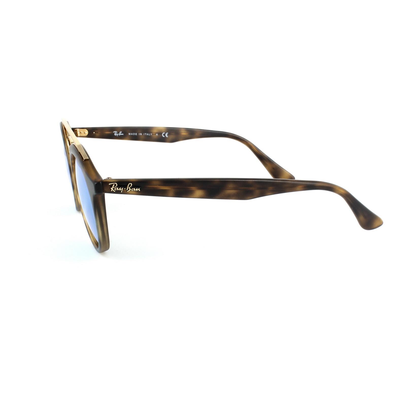 db0b2673772 Sentinel Ray-Ban Sunglasses Gatsby 4256 60923R Matt Havana Green Mirror  Medium 46mm