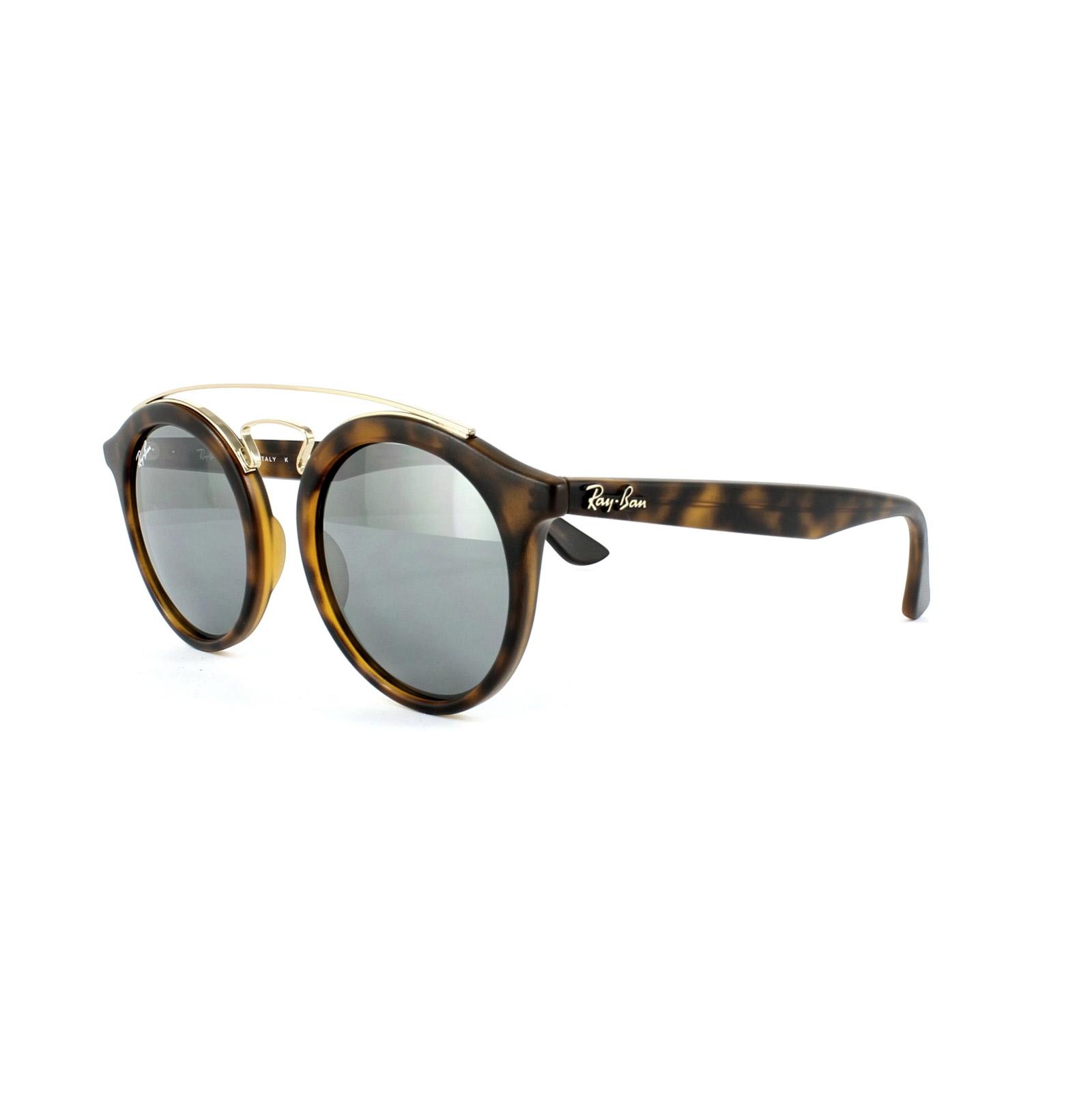 Sentinel Ray-Ban Sunglasses Gatsby 4256 60926G Matt Havana Grey Silver  Mirror f1d1b331f9