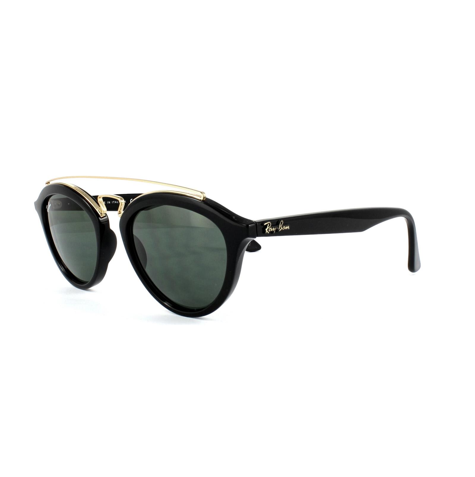 RAY BAN RAY-BAN Damen Sonnenbrille »New Gatsby Ii RB4257«, schwarz, 601/71 - schwarz/grün