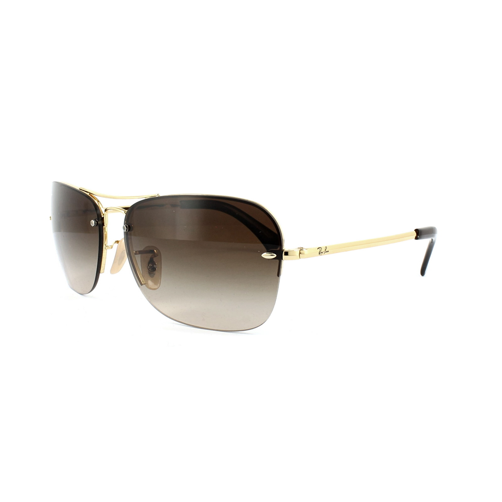Details about Ray-Ban Sunglasses 3541 001 13 Gold Brown Gradient 4e7ad6eb04