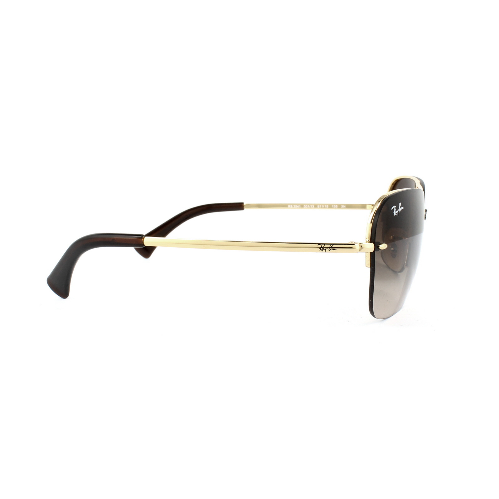 1285fe457b8 Ray-Ban Sunglasses 3541 001 13 Gold Brown Gradient 8053672572889