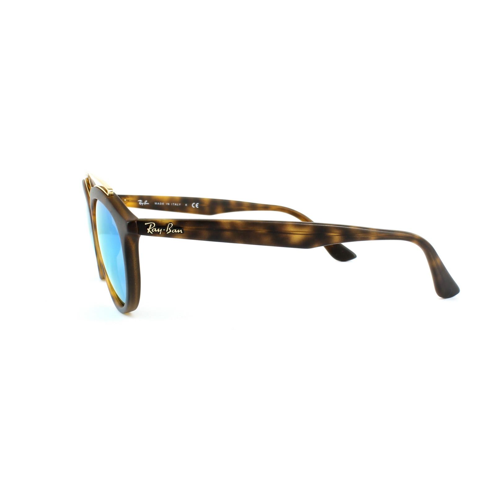 684dd55d42 Sentinel Ray-Ban Sunglasses New Gatsby 4257 609255 Matt Havana Blue Mirror  Large 53mm