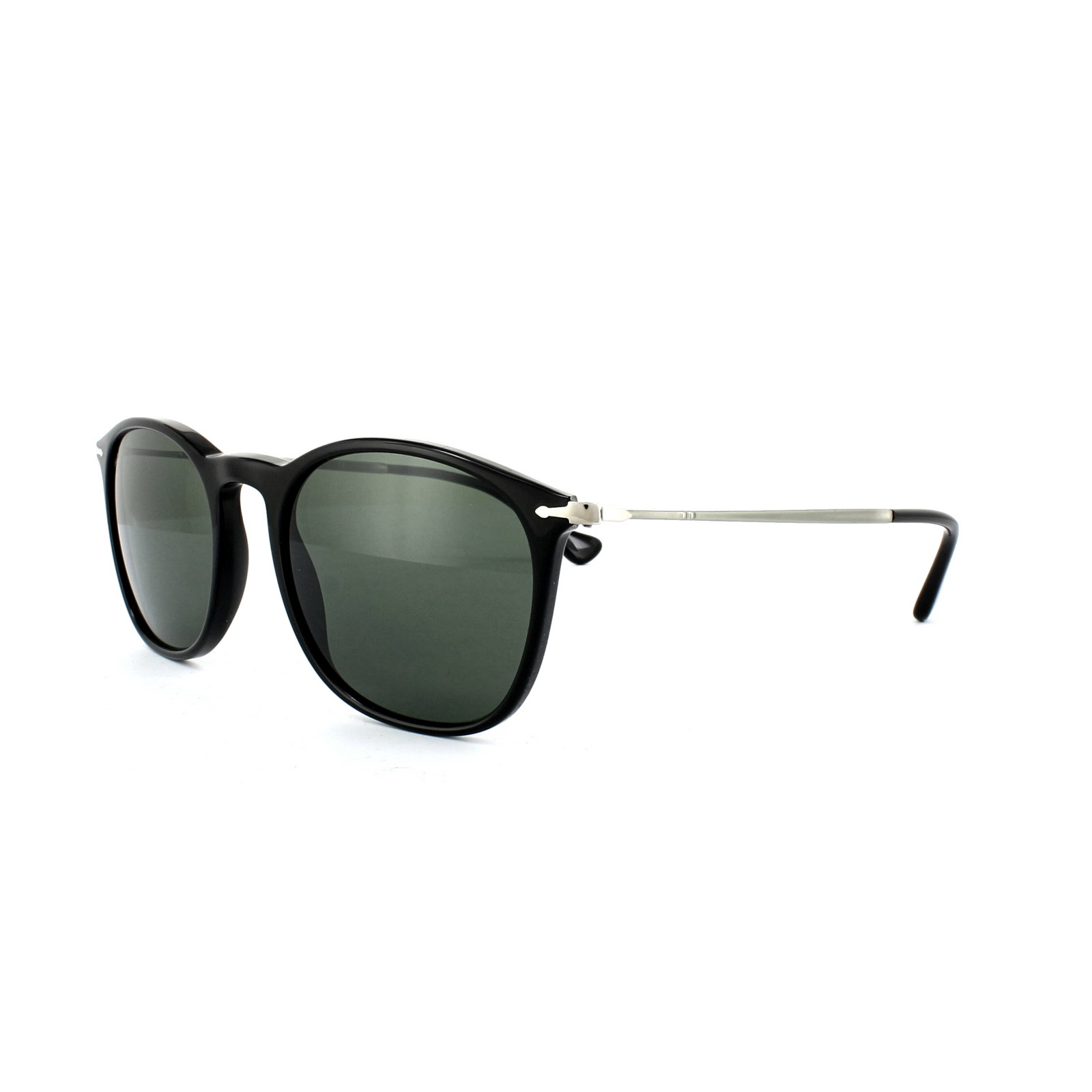 Persol Sunglasses 3124 95 31 Black Grey Green 8053672472554   eBay b05607376aa3