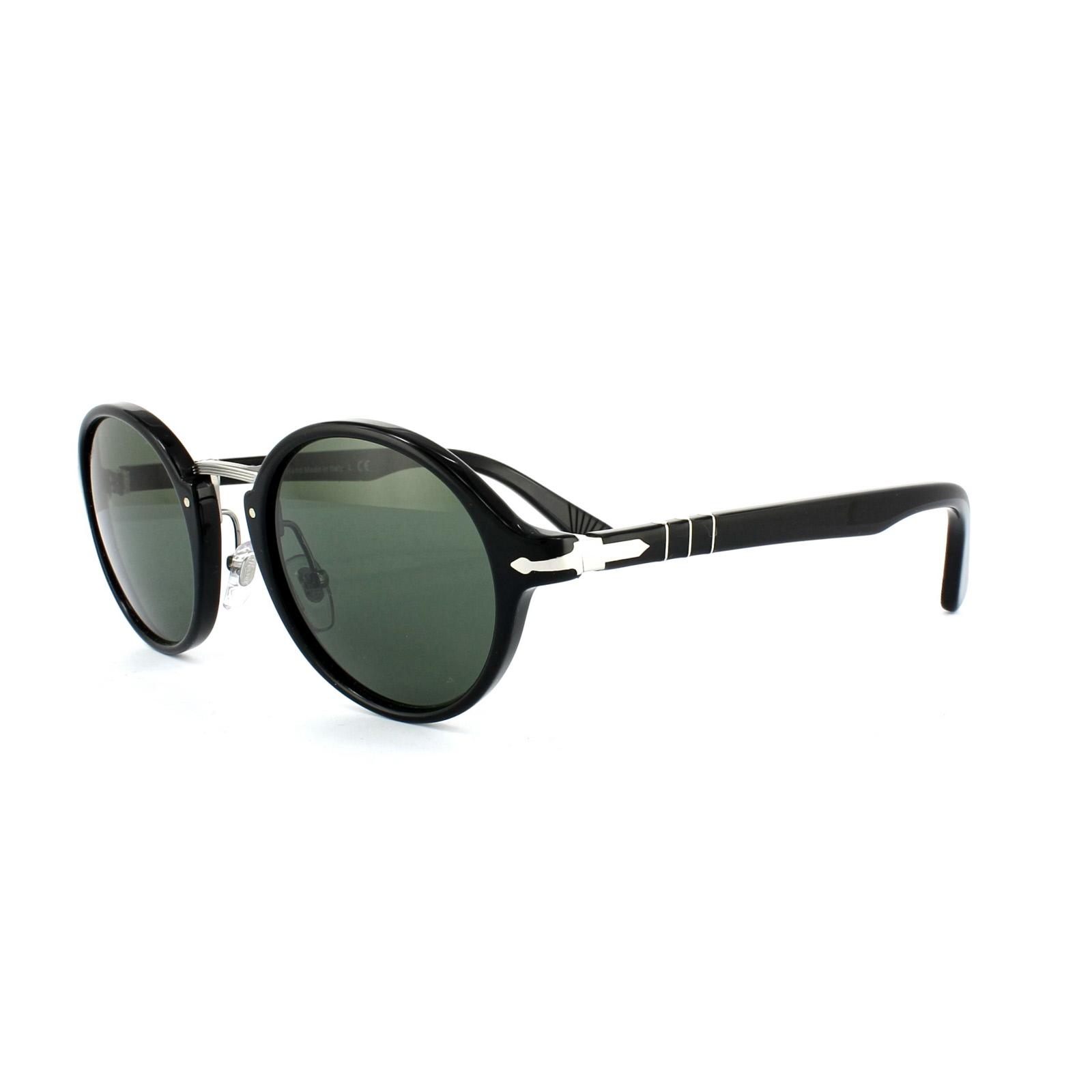 27d94a721016 Persol Sunglasses 3129 95/31 Black Grey Green 8053672472790 | eBay
