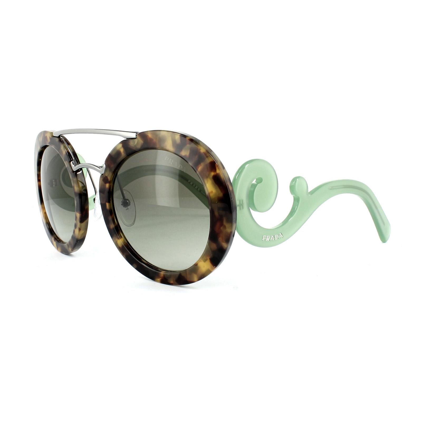 2f9275142642 Sentinel Prada Sunglasses 13SS UEZ4K1 Spotted Brown & Green Grey Green  Gradient