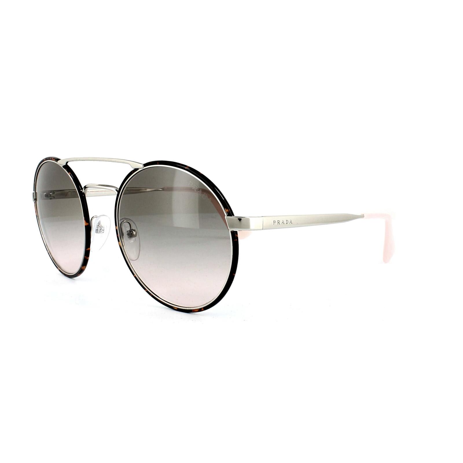 b086fc6a6187 Sentinel Prada Sunglasses 51ss 2AU4K0 Dark Havana Silver Pink Light Pink  Grey Gradient