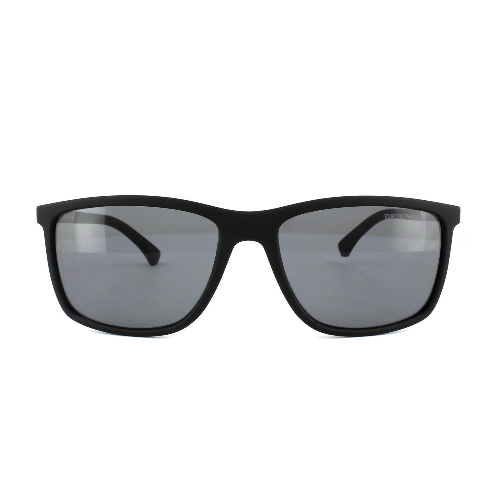 8115928fcf4 Sentinel Emporio Armani Sunglasses 4058 5063 81 Black Rubber Grey Polarized