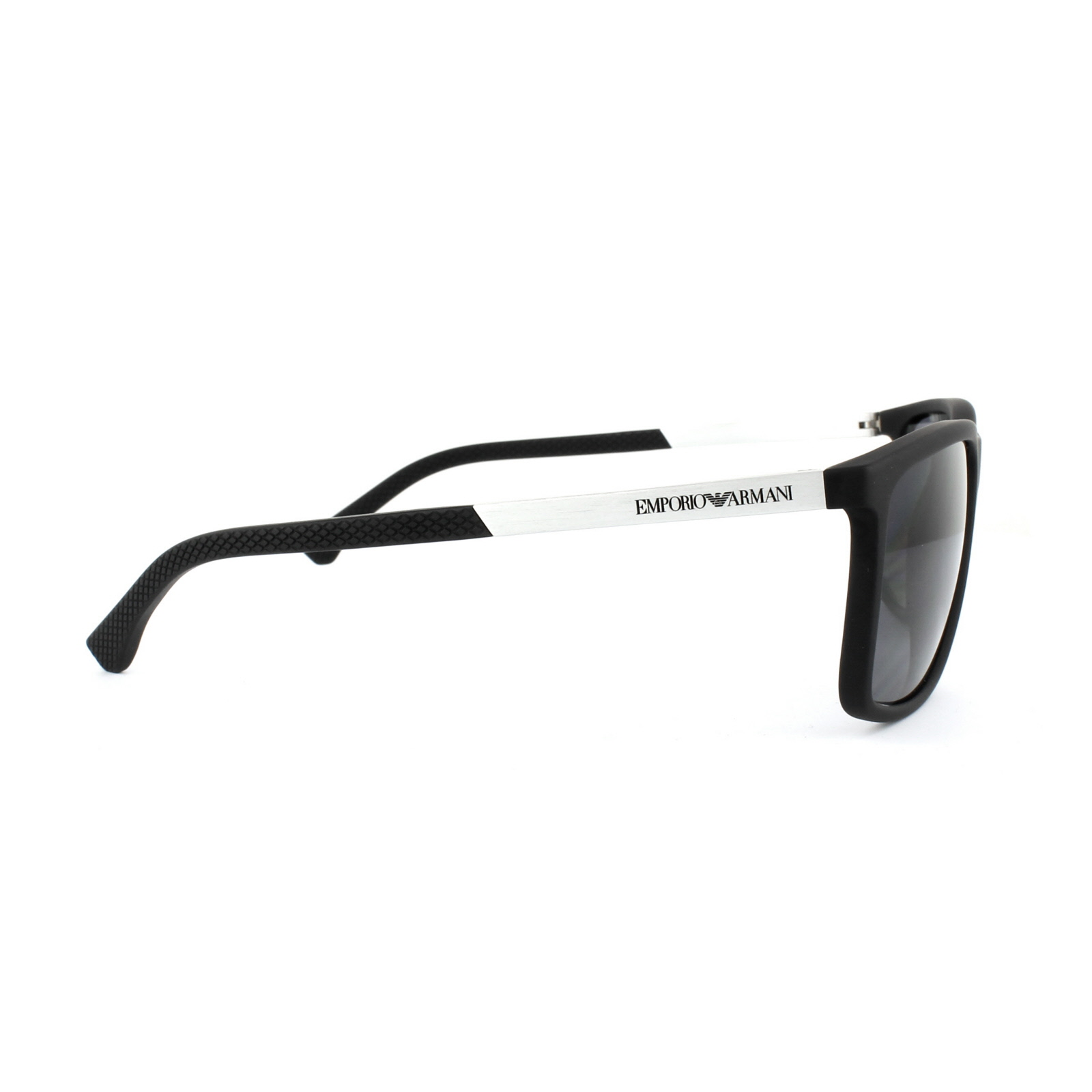 198be7a93b Sentinel Emporio Armani Sunglasses 4058 5063 81 Black Rubber Grey Polarized