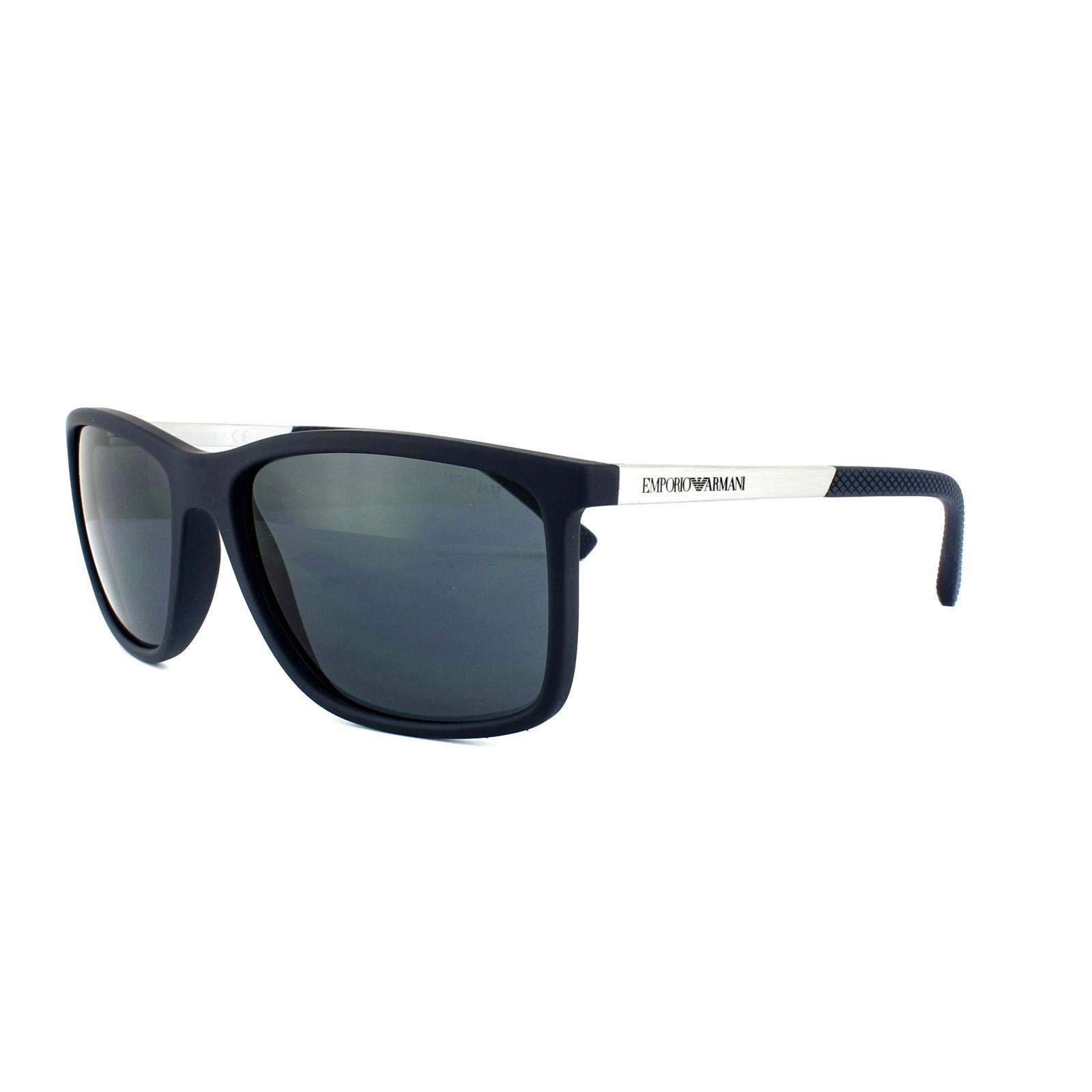 Sentinel Emporio Armani Sunglasses 4058 5474 87 Blue Rubber Grey 362e1471e5