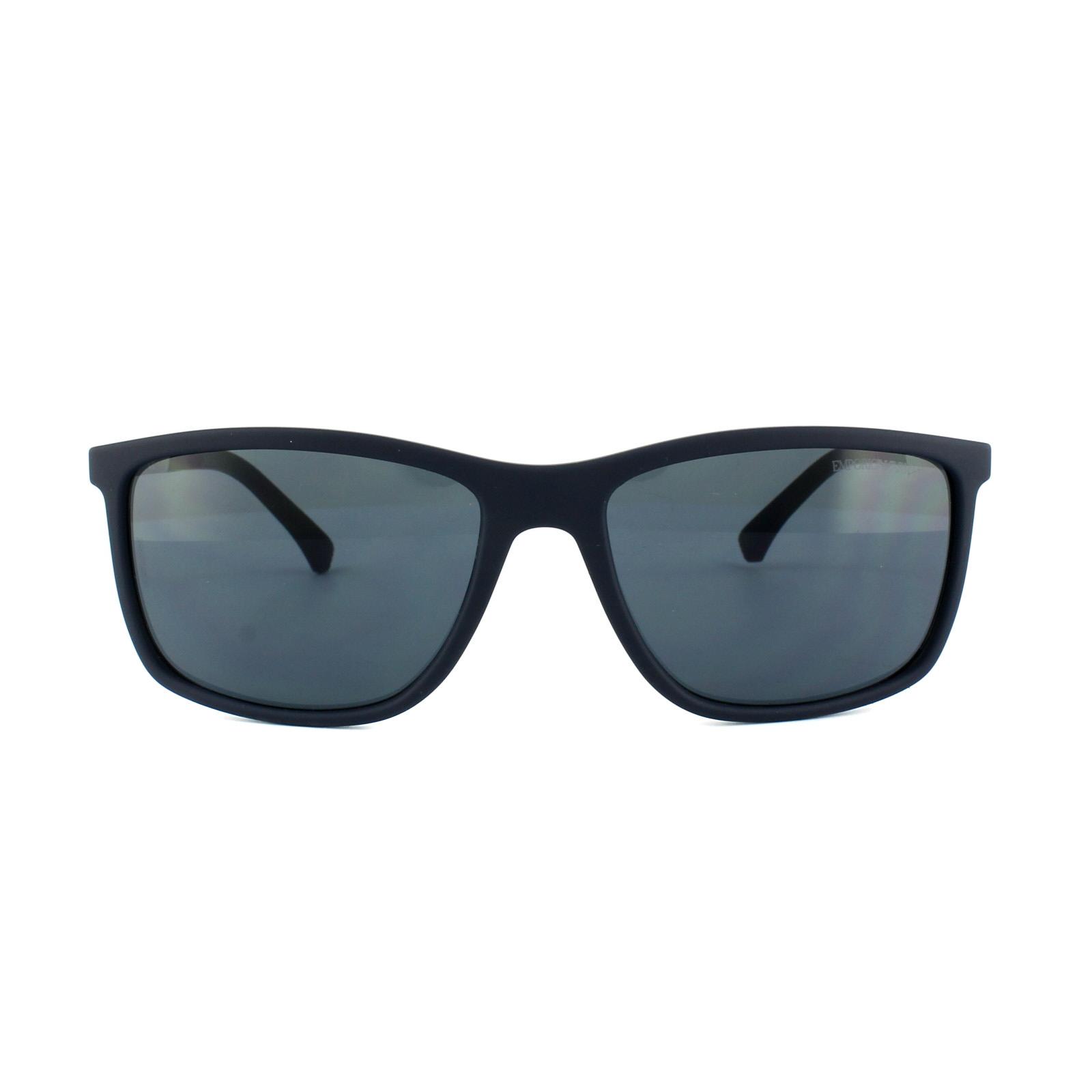 7fd627c25b6 Sentinel Emporio Armani Sunglasses 4058 5474 87 Blue Rubber Grey