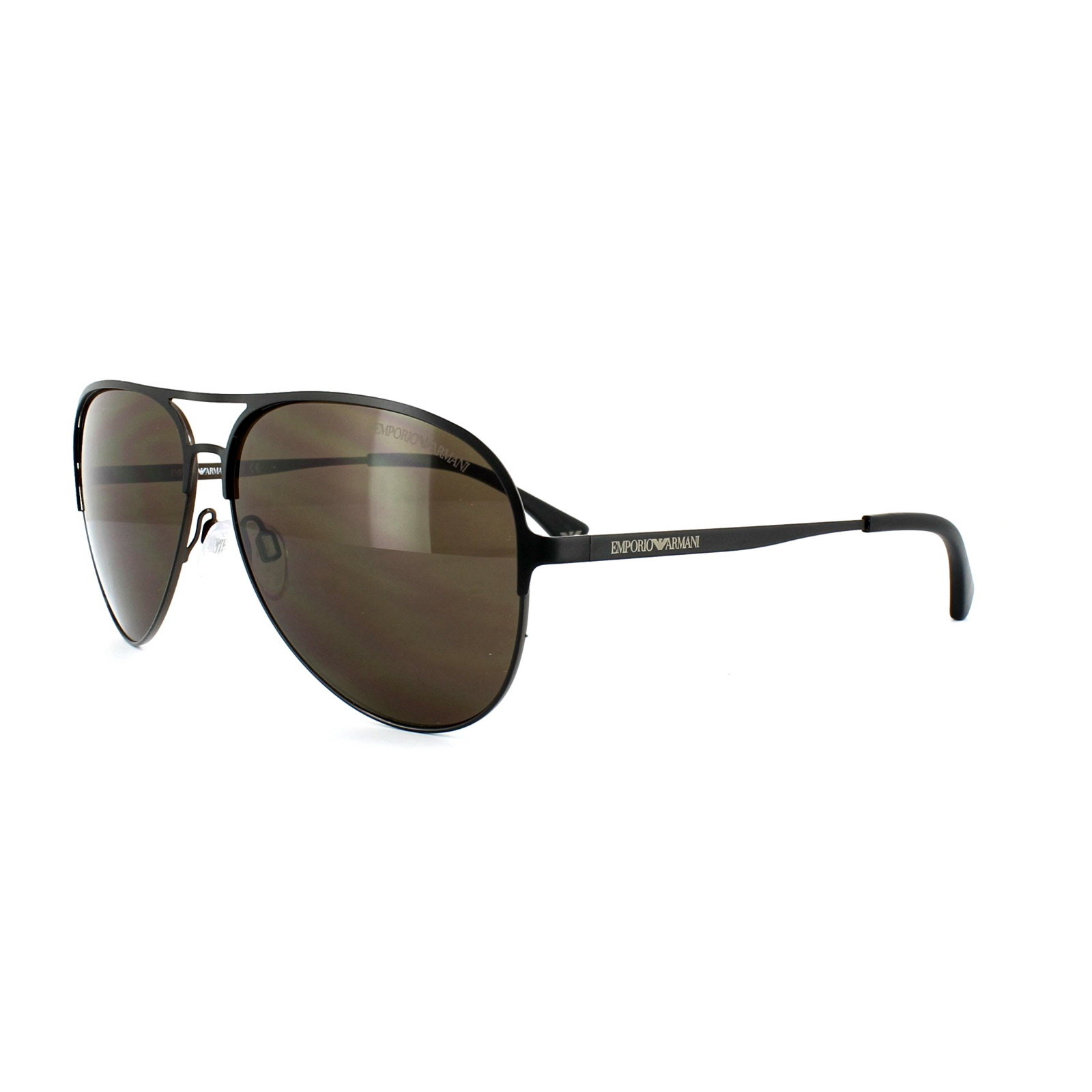 9a6165090a Sentinel Emporio Armani Sunglasses 2032 3127 73 Matt Black Brown Brown