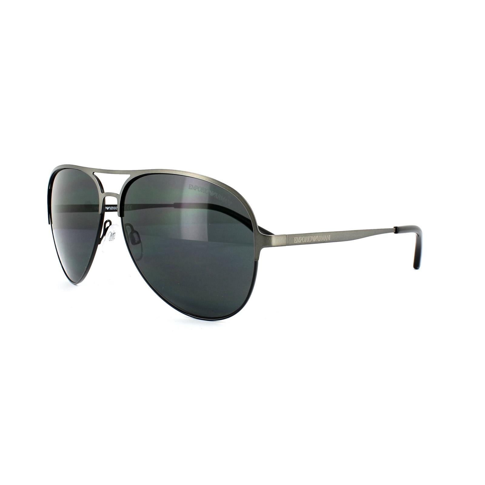 c7bce590d710 Sentinel Emporio Armani Sunglasses 2032 3126 87 Matt Ruthenium Black Grey
