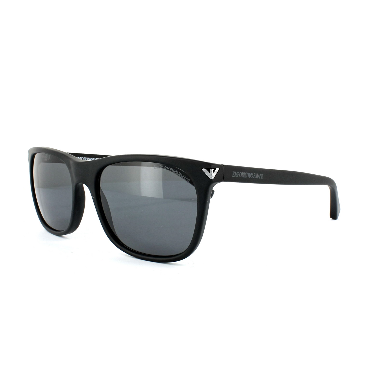 fc71f518035f Sentinel Emporio Armani Sunglasses 4056 5042 81 Matt Black Grey Polarized