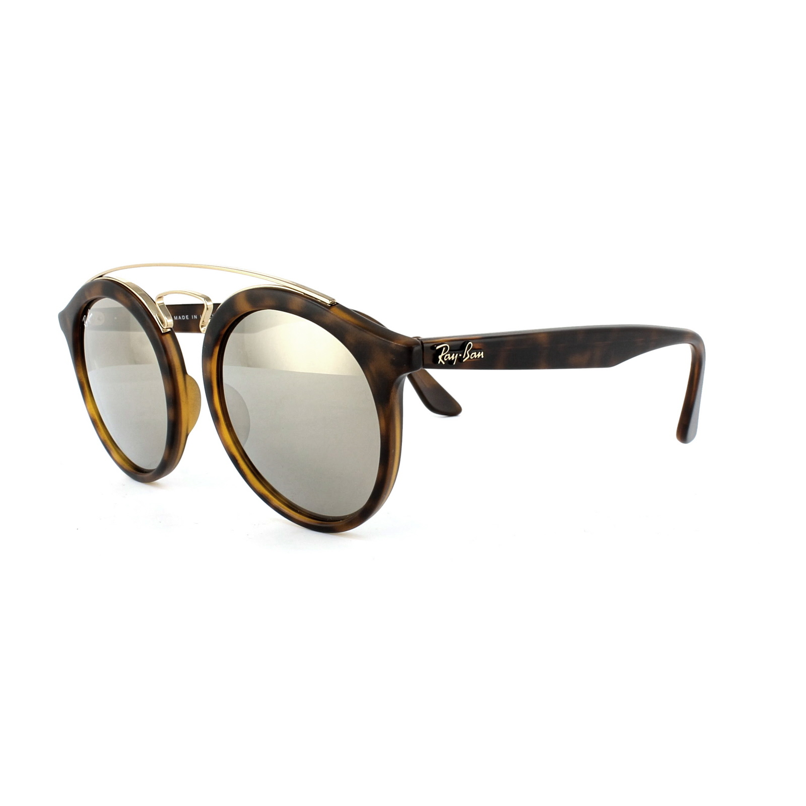 7472141e7d Ray-Ban Sunglasses Gatsby 4256 60925A Matt Havana Brown Gold Mirror ...