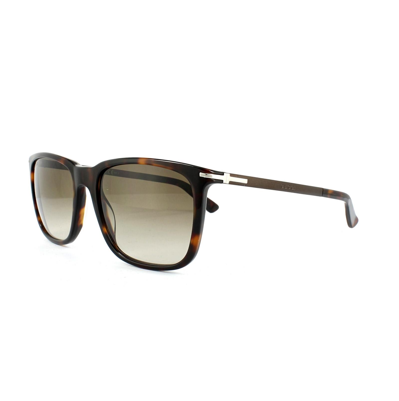 Gucci Gafas de sol 1104 gyx Cc Havana Oscuro Marron Degradado | eBay