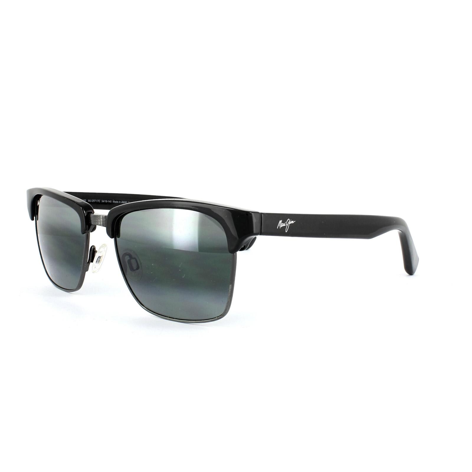 89c1b9cd89f Details about Maui Jim Sunglasses Kawika 257-17C Black Gloss Pewter Neutral  Grey Polarized