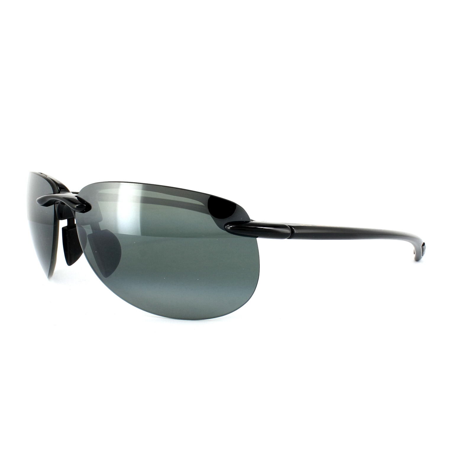 f1b68edda99f80 Sentinel Maui Jim Sunglasses Hapuna 414-02 Gloss Black Neutral Grey  Polarized