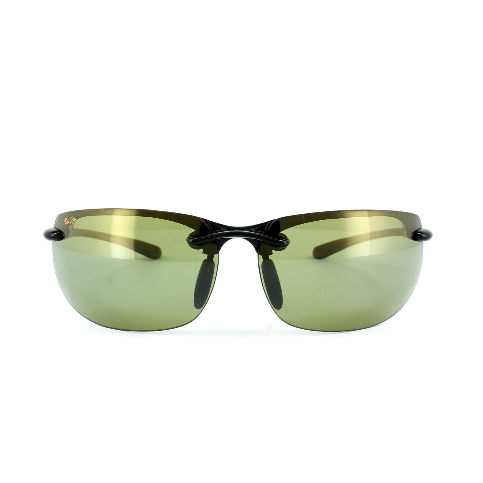 f9c2970d507 Sentinel Maui Jim Sunglasses Banyans HT412-02 Gloss Black Maui HT Green  Polarized