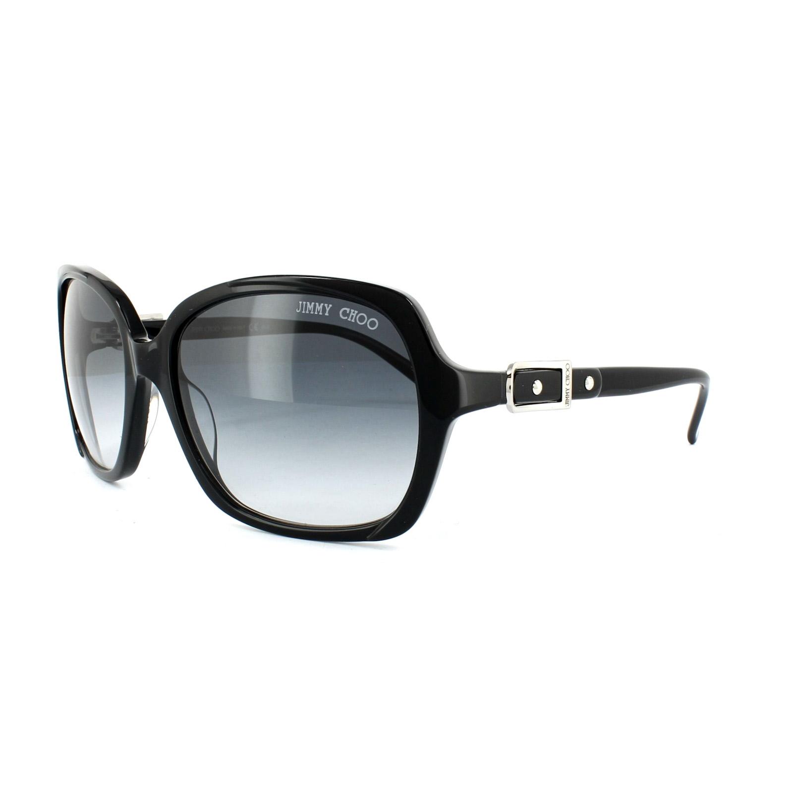b6943e27bc9 Jimmy Choo Sunglasses Lela 807 JJ Black Grey Gradient 827886872848 ...