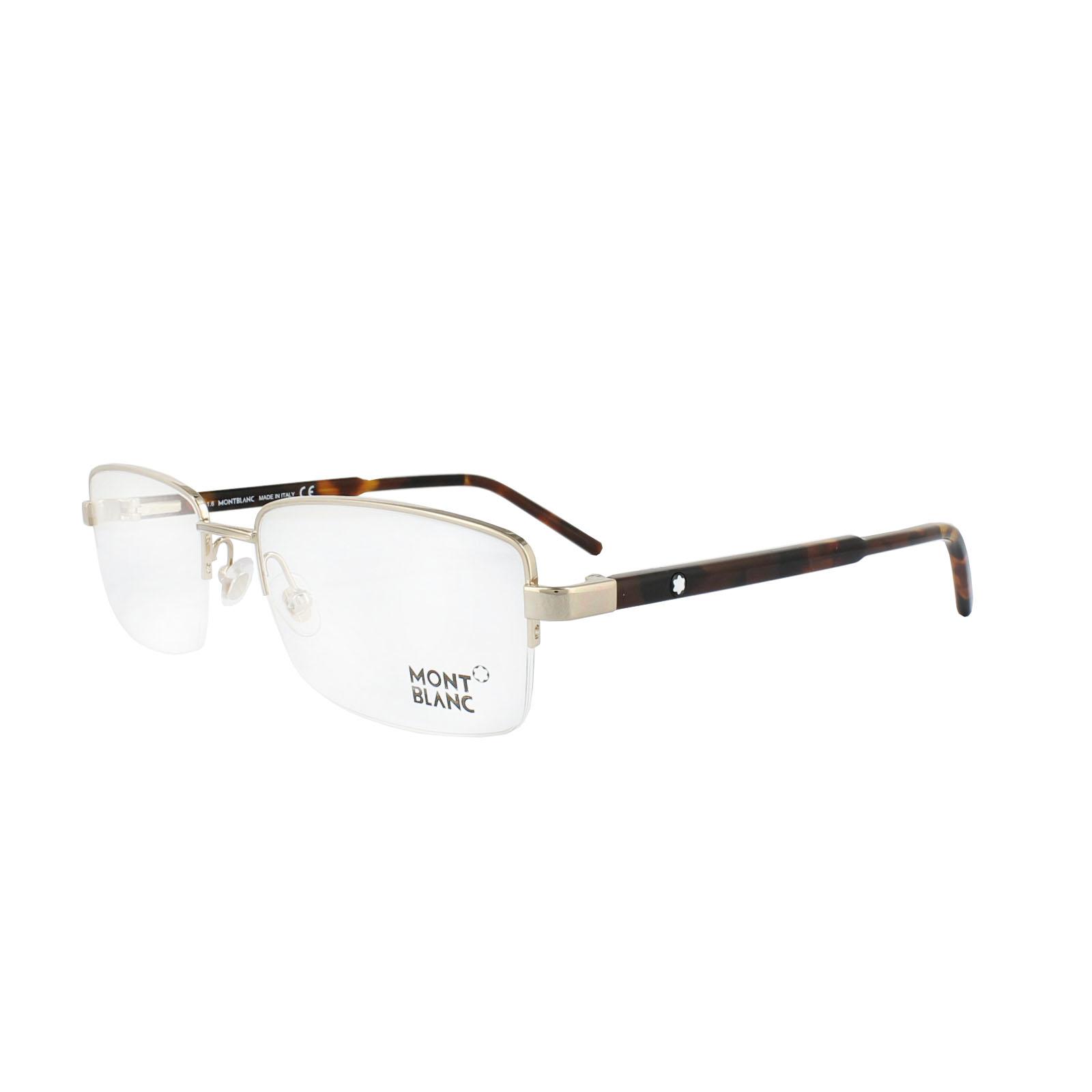 Sentinel Mont Blanc Glasses Frames 0581 028 Shiny Rose Gold   Black 7b804eb32353