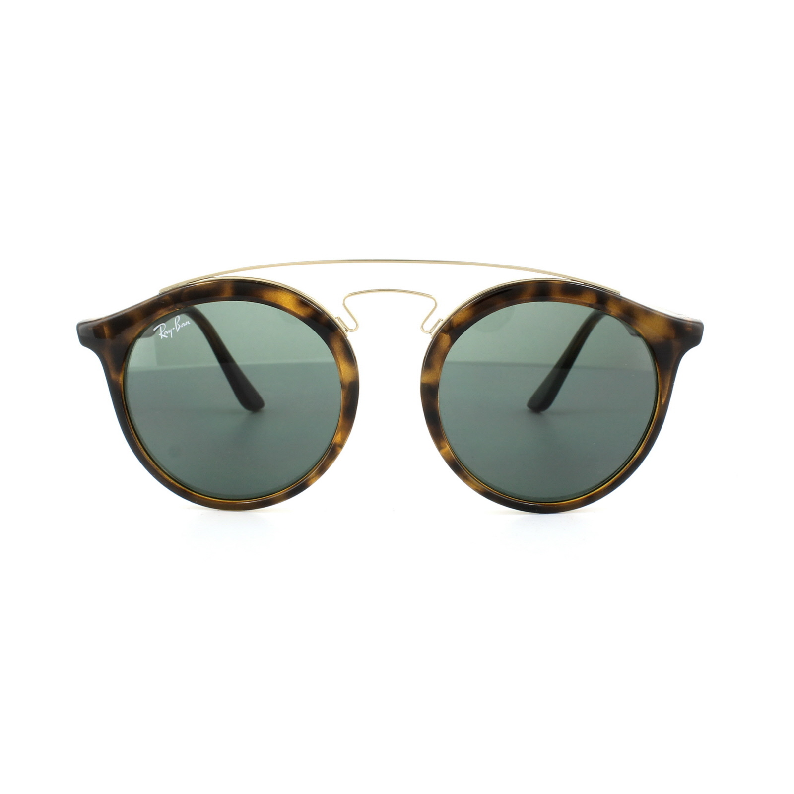 731ebffd6818b4 Sentinel Ray-Ban Sunglasses Gatsby 4256 609255 Matt Havana Blue Mirror  Large 49mm