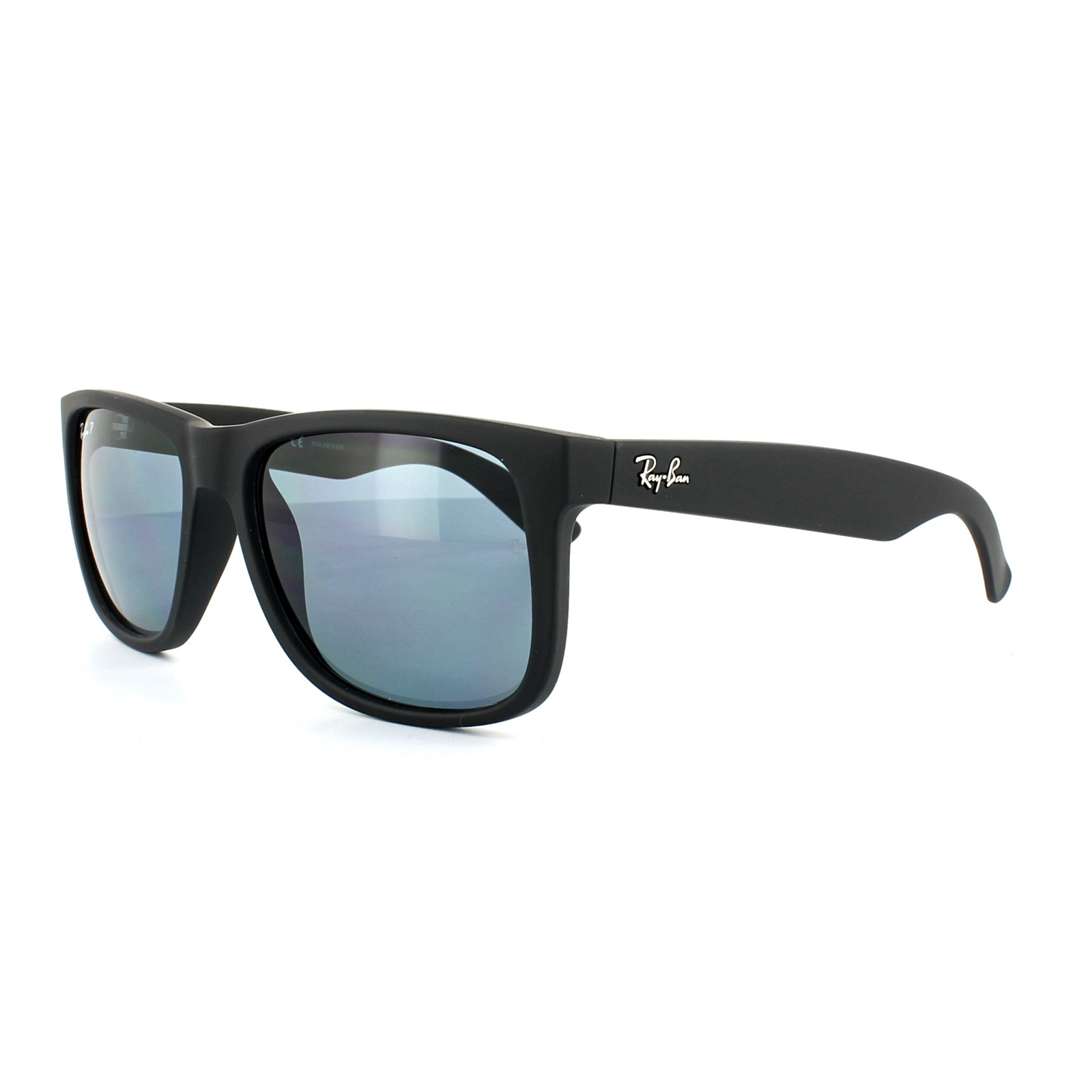 6bd1b7c649bd6 Sentinel Ray-Ban Sunglasses Justin 4165 622 2V Black Blue Polarized 55mm
