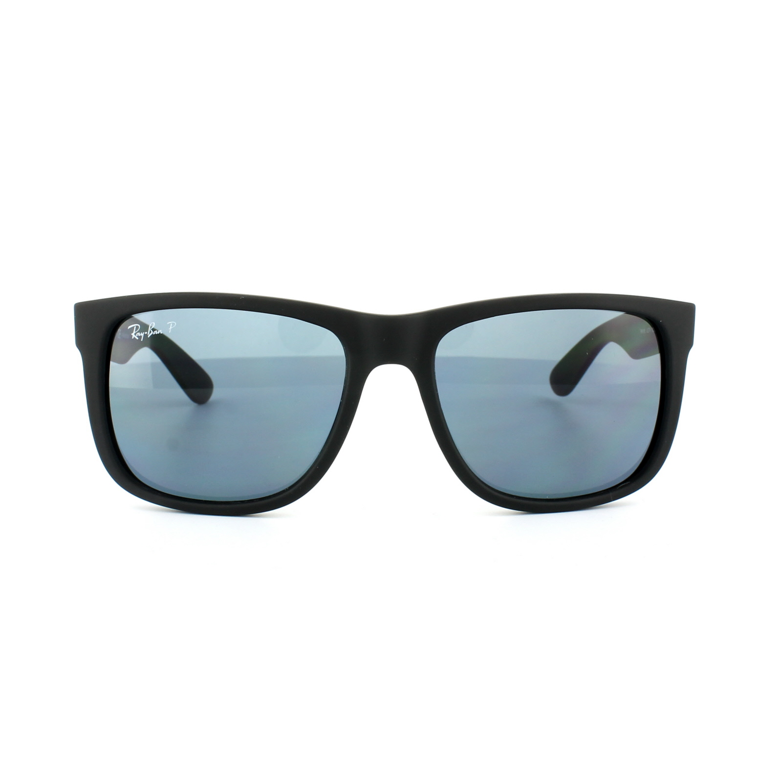 d9f1ecb33276 Sentinel Ray-Ban Sunglasses Justin 4165 622 2V Black Blue Polarized Large  55mm