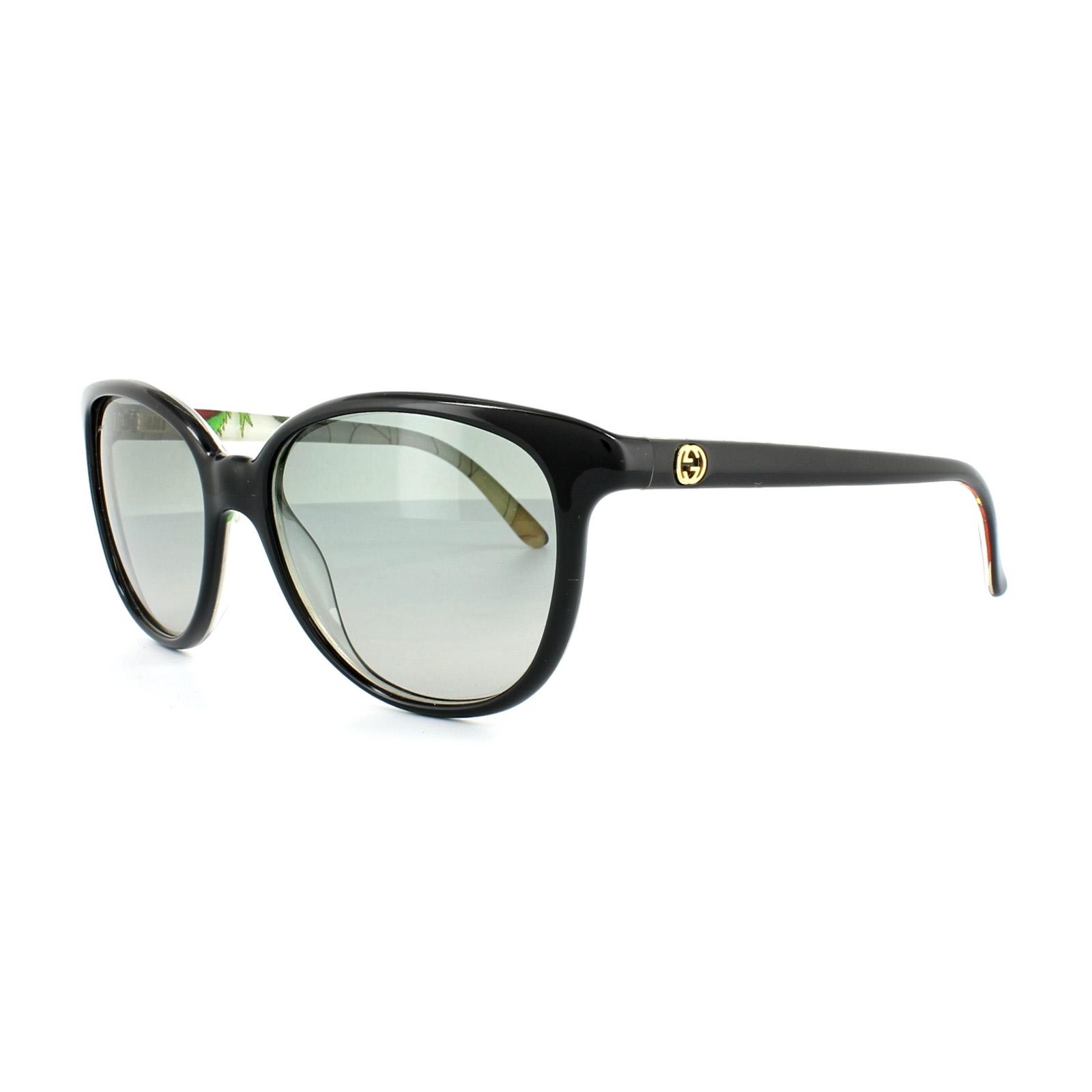 db84b0c734 Sentinel Gucci Sunglasses 3633 N S Z96 VK Black Flower Grey Gradient