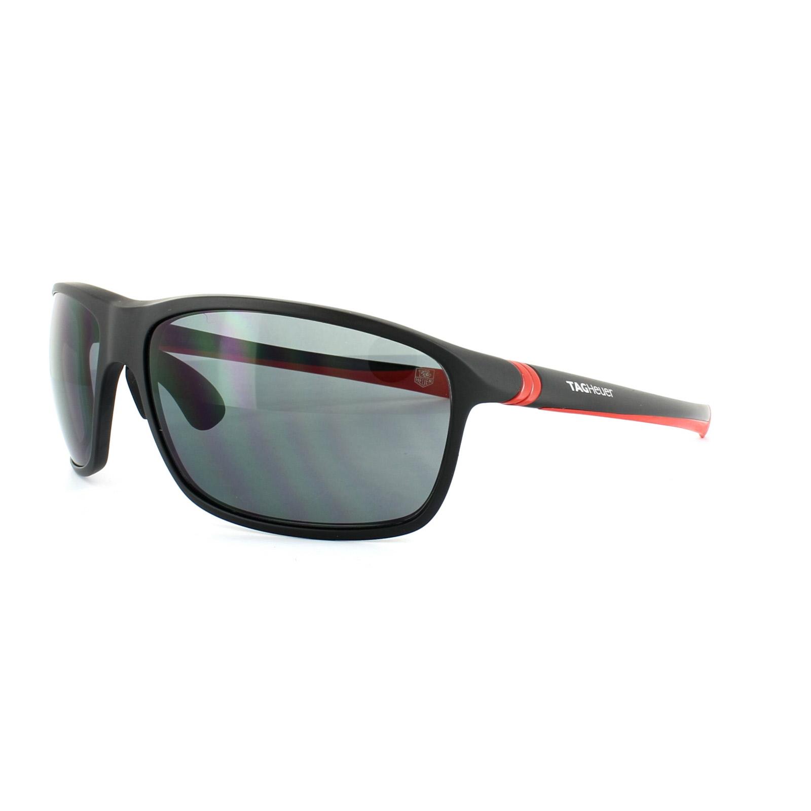 1d67d160e9 Sentinel Tag Heuer Sunglasses 27 Degrees 6023 102 Matt Black Red Grey  Outdoor