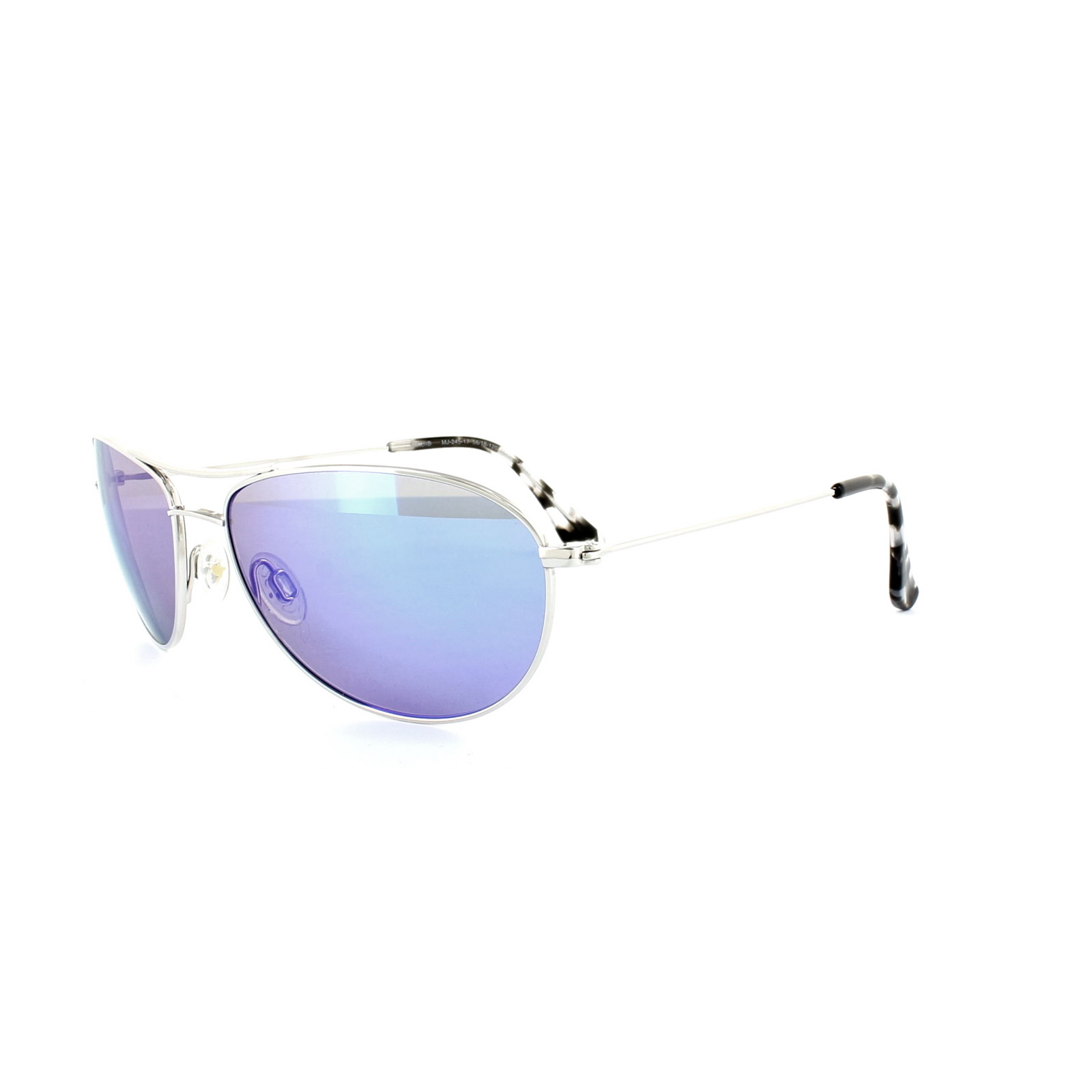 b2c06cf037 Sentinel Maui Jim Sunglasses Baby Beach B245-17 Silver Blue Hawaii Polarized.  Sentinel Thumbnail 2