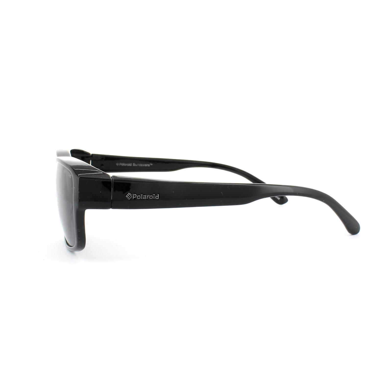 8886d9ebe76 Sentinel Polaroid Suncovers Fitover Sunglasses P8406 KIH Y2 Black Grey  Polarized
