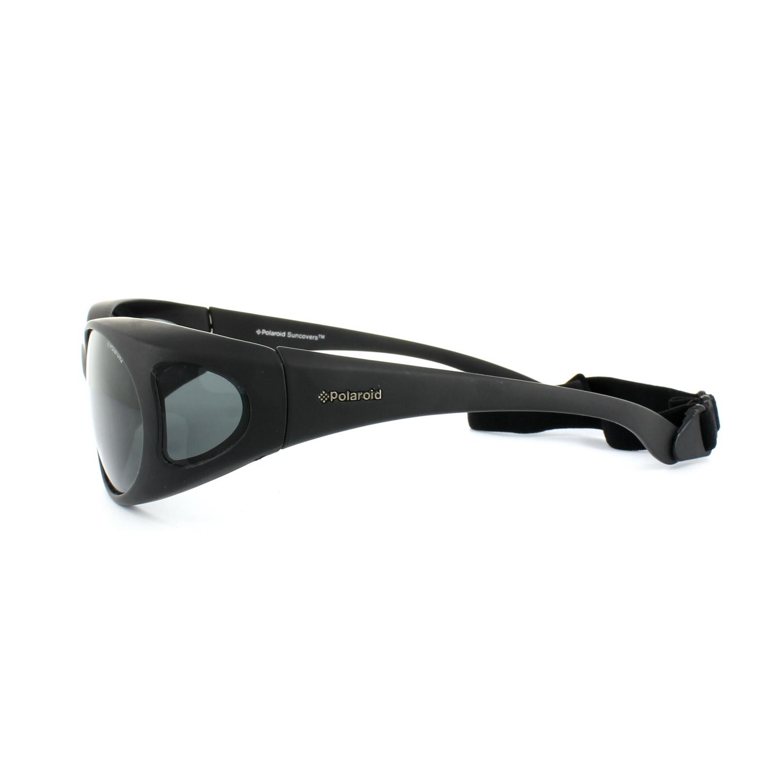 6c4031fd32e Sentinel Polaroid Suncovers Fitover Sunglasses P8900 KIH Y2 Black Grey  Polarized