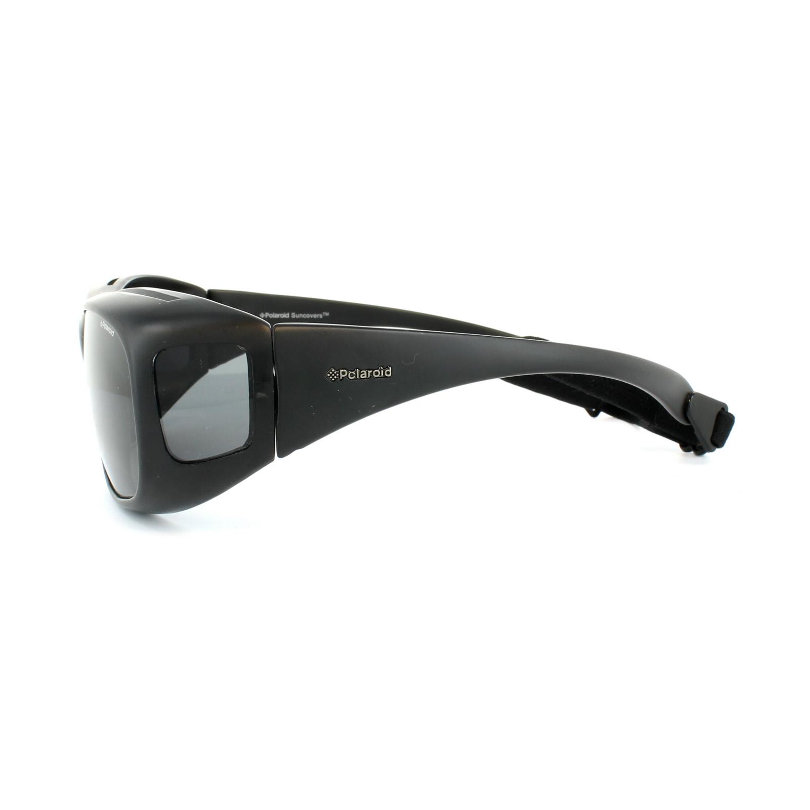 Polaroid 08535 Sunglasses Y2 Suncovers Fitover Black Grey KIH Crwq1Cpnta