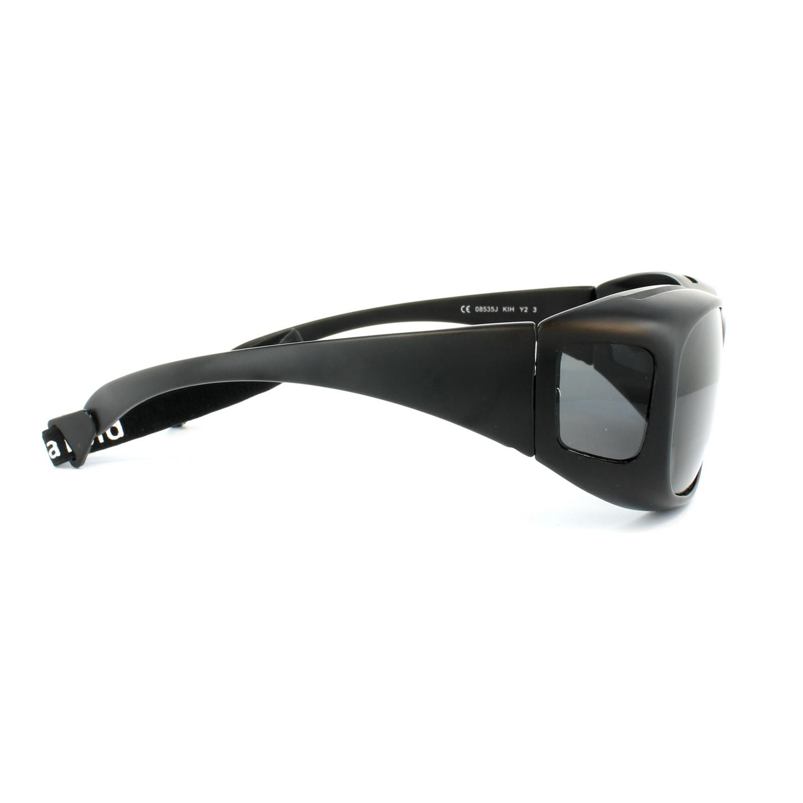 Sentinel Polaroid Suncovers Fitover Sunglasses 08535 KIH Y2 Black Grey  Polarized ddad26b620
