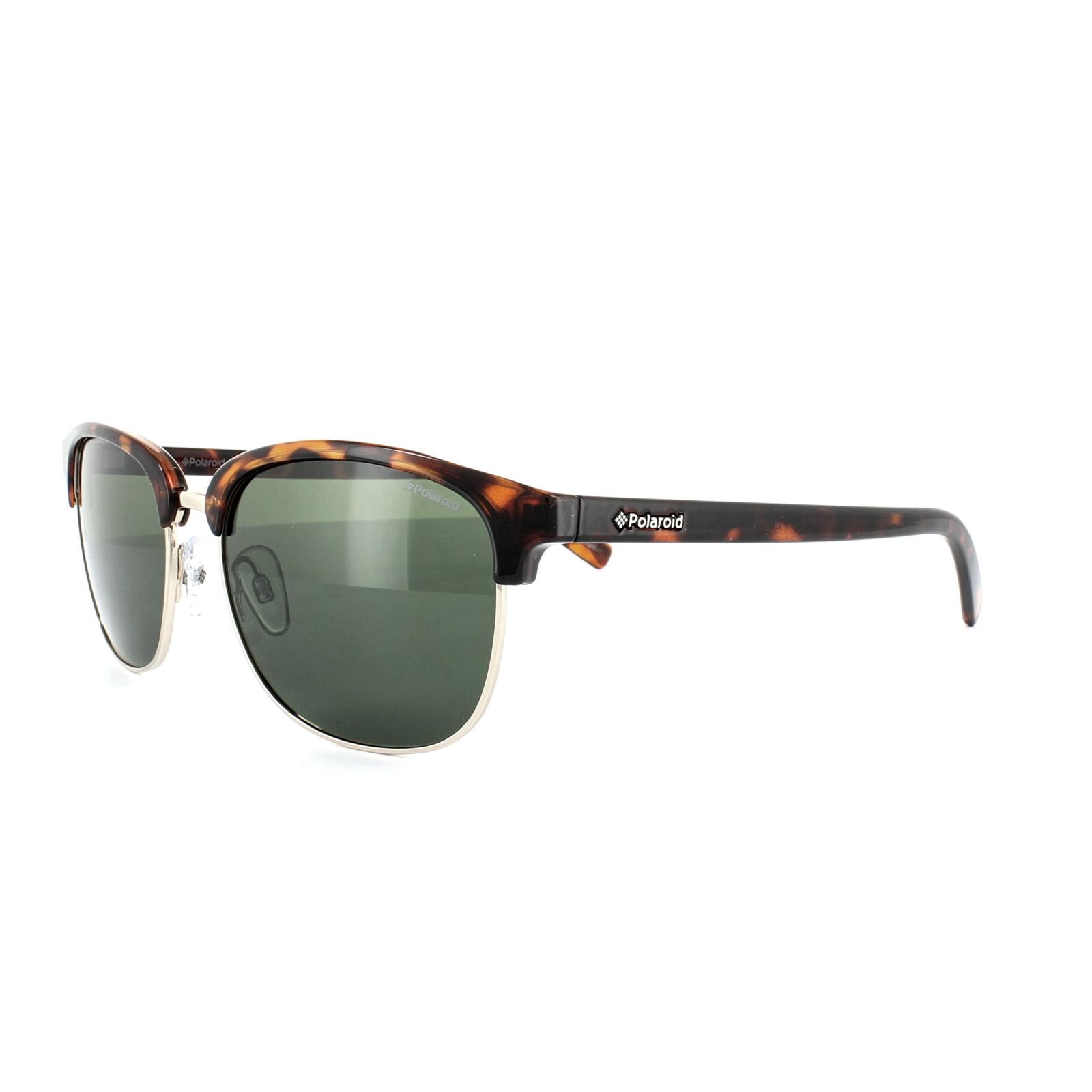 55575926685 Sentinel Polaroid Sunglasses 1012 S PR6 H8 Havana Green Polarized