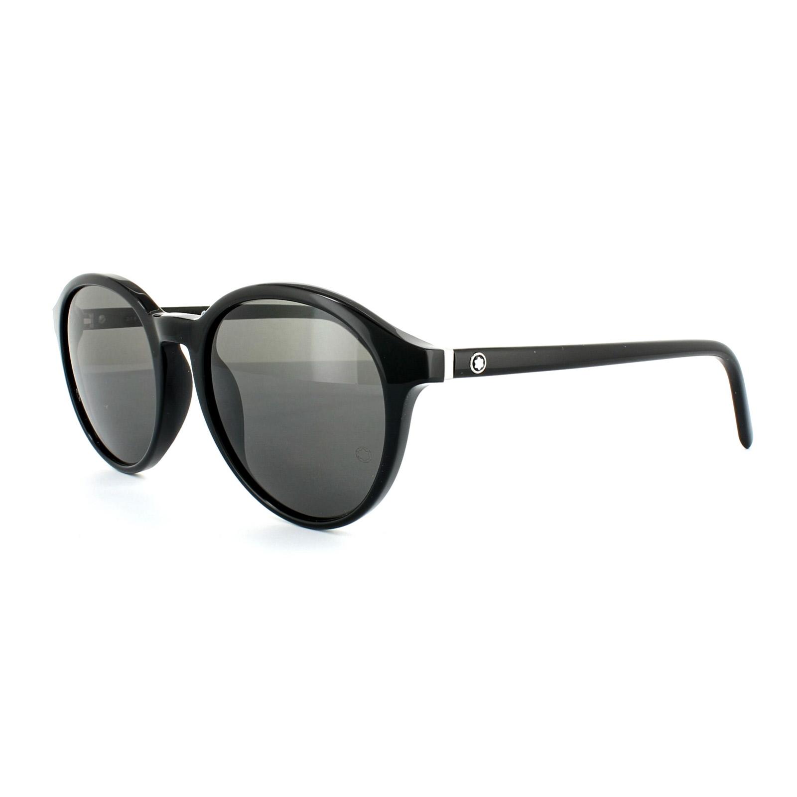 8591551d58 Sentinel Mont Blanc Sunglasses MB505S 01B Shiny Black Dark Grey Smoke