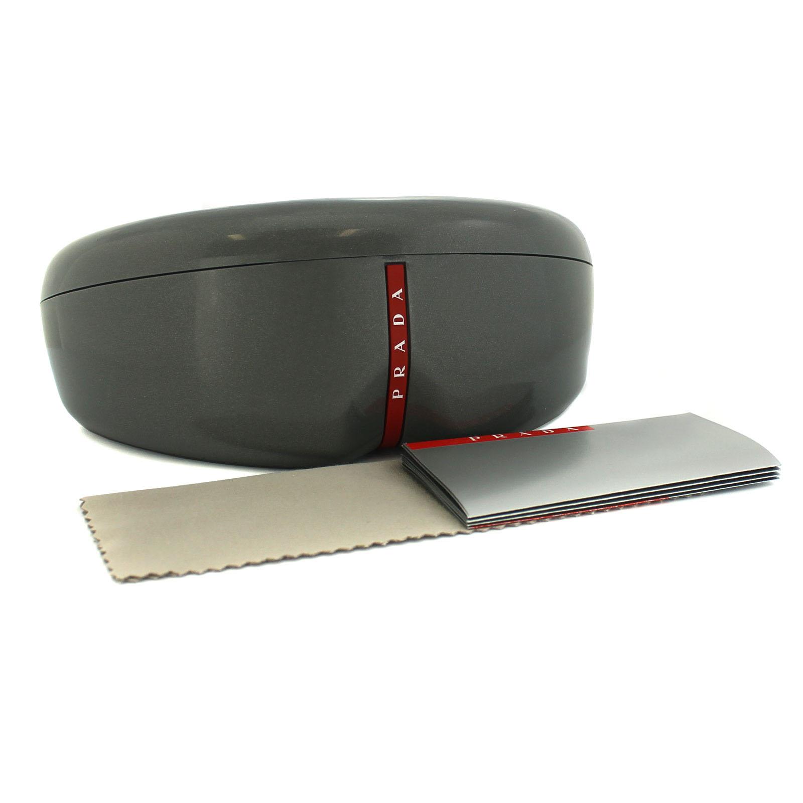 29f87d2880 CENTINELA Gafas de Sol Prada Sport 51QS DG07W1 negro y Gunmetal goma gris  espejo plateado