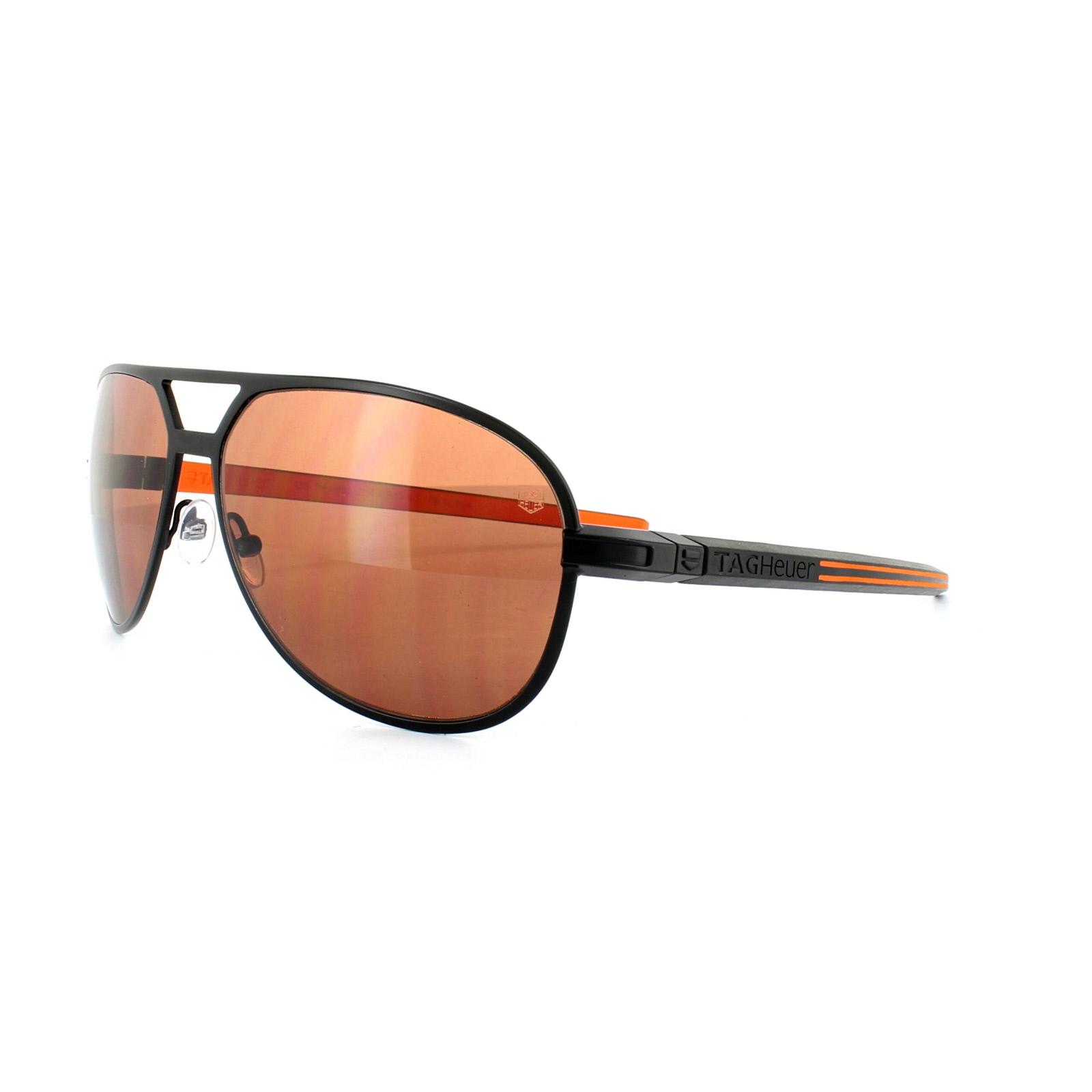 74e24799764c Sentinel Tag Heuer Sunglasses 0986 Senna Racing 204 Black Orange HD Driving  Brown