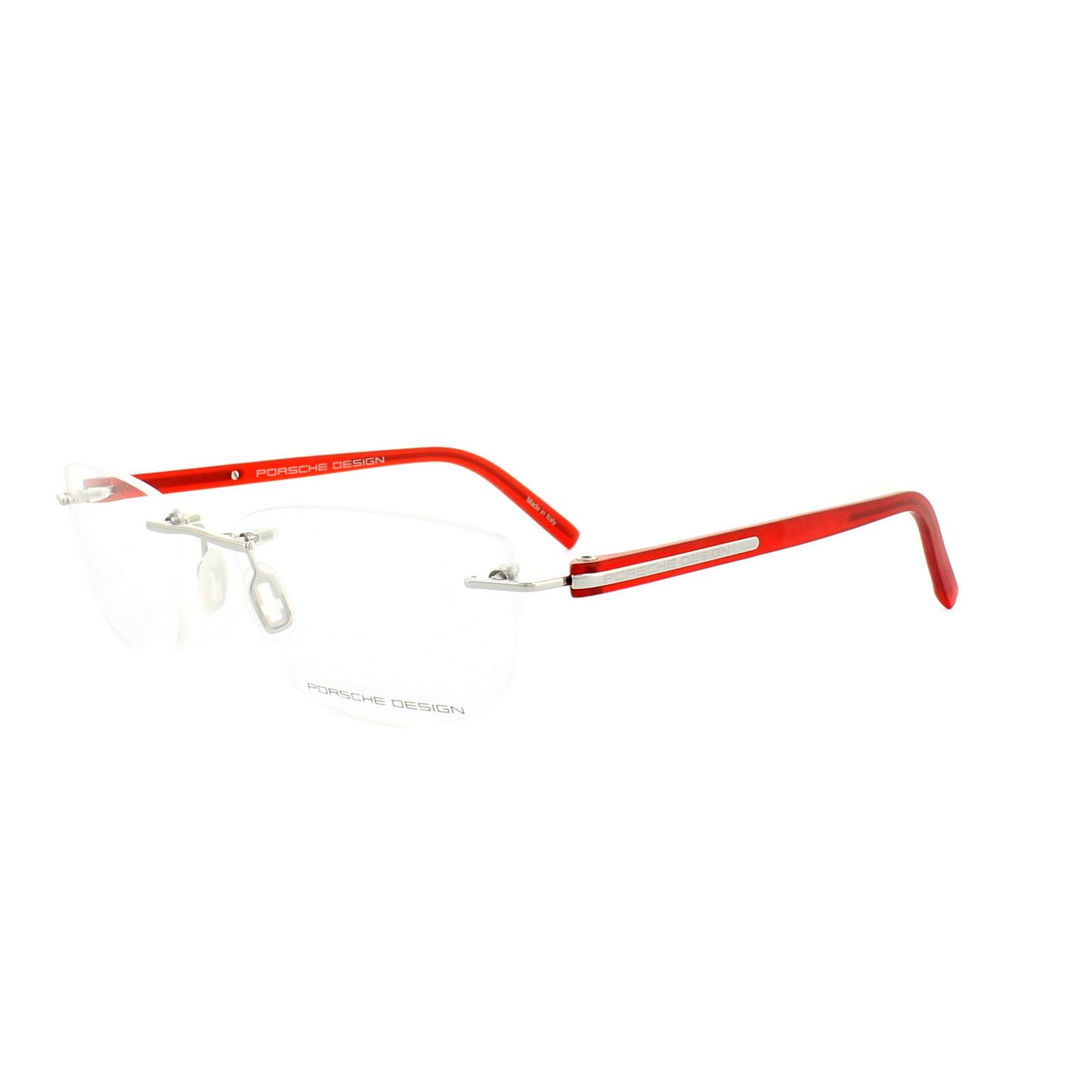 Porsche Design Glasses Frames P8245D D S1 Palladium & Red ...