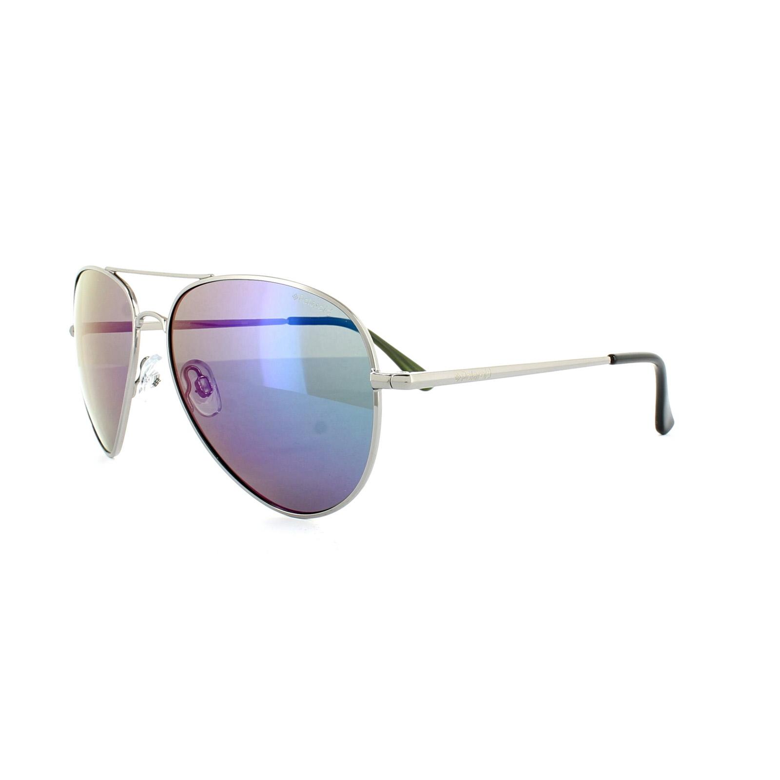 679066c501 Sentinel Polaroid Sunglasses P4139 N5Y K7 Silver Green Mirror Polarized