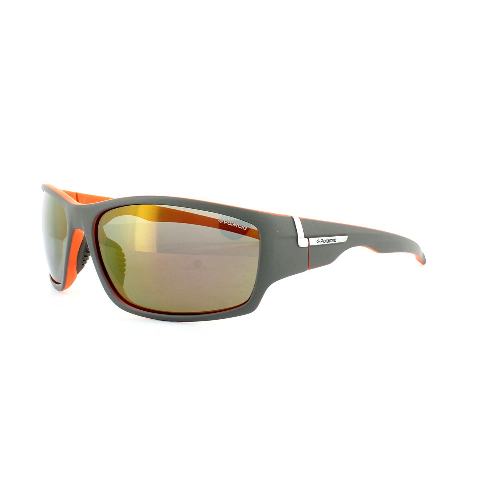 Polaroid Sport Sonnenbrille P7407 OGI JB Grau Grau Spiegel Polarisiert 7nO3pPQP