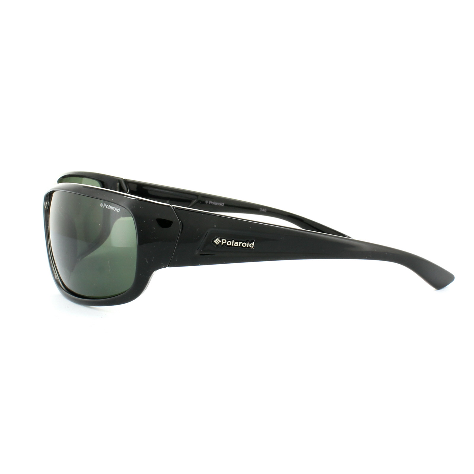 Sentinel Polaroid Sport Sunglasses P8414 KIH RC Black Green Polarized 69b89cc916