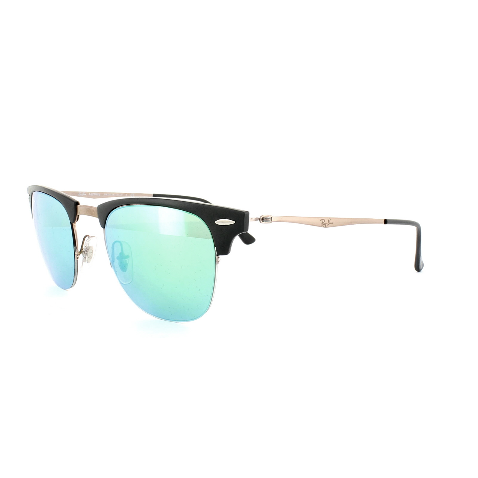 f6e75ecd1d Sentinel Ray-Ban Sunglasses Clubmaster Light Ray 8056 176 3R Black Brown  Green Mirror